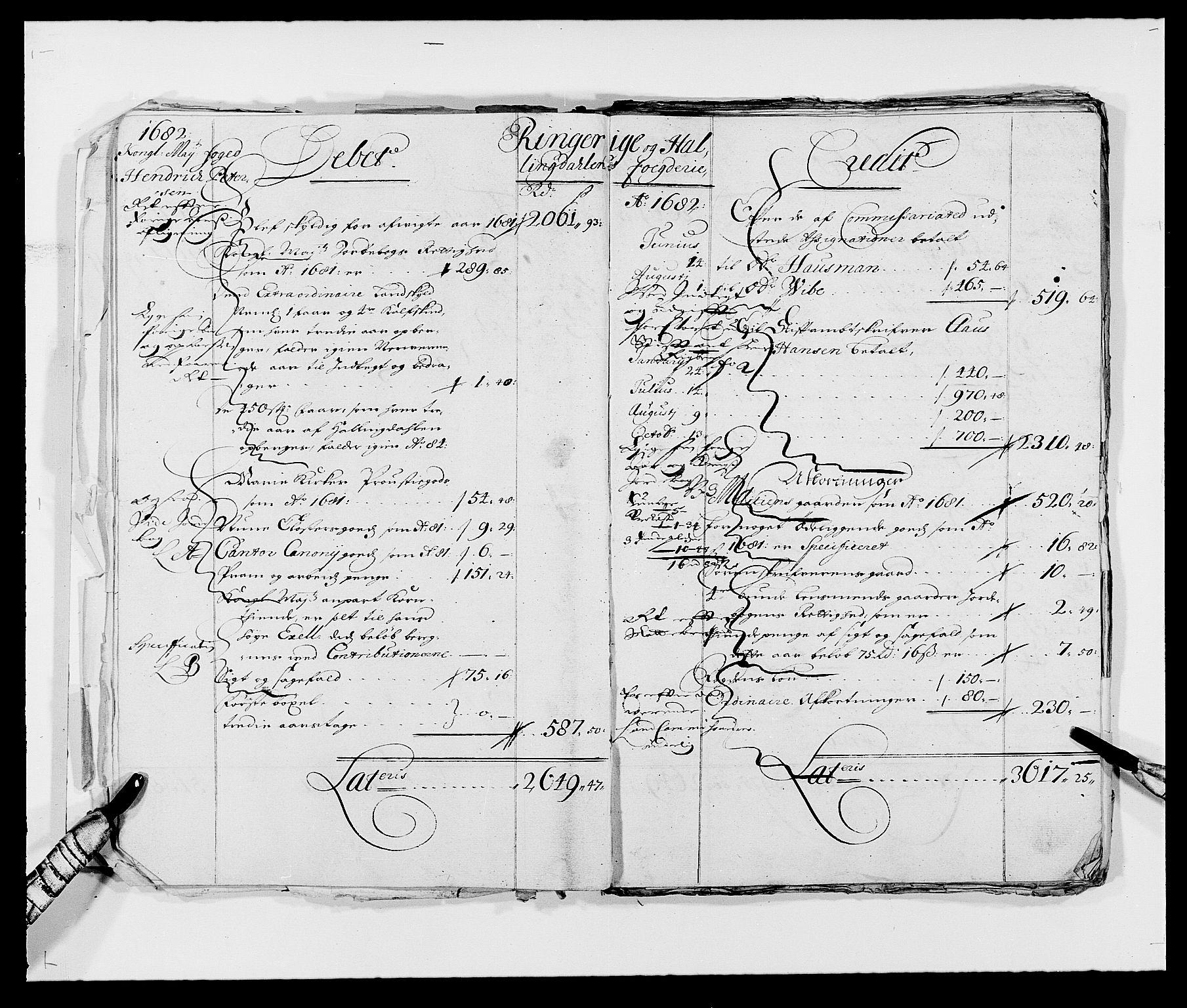 RA, Rentekammeret inntil 1814, Reviderte regnskaper, Fogderegnskap, R21/L1445: Fogderegnskap Ringerike og Hallingdal, 1681-1689, s. 6