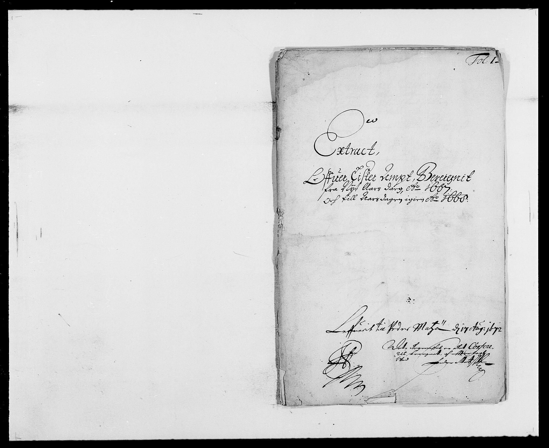 RA, Rentekammeret inntil 1814, Reviderte regnskaper, Fogderegnskap, R41/L2524: Fogderegnskap Lista, 1665-1668, s. 265