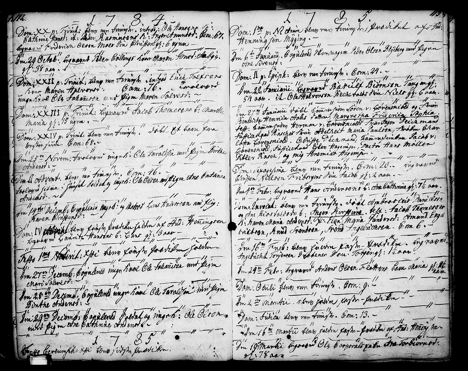 SAKO, Porsgrunn kirkebøker , F/Fa/L0002: Ministerialbok nr. 2, 1764-1814, s. 112-113
