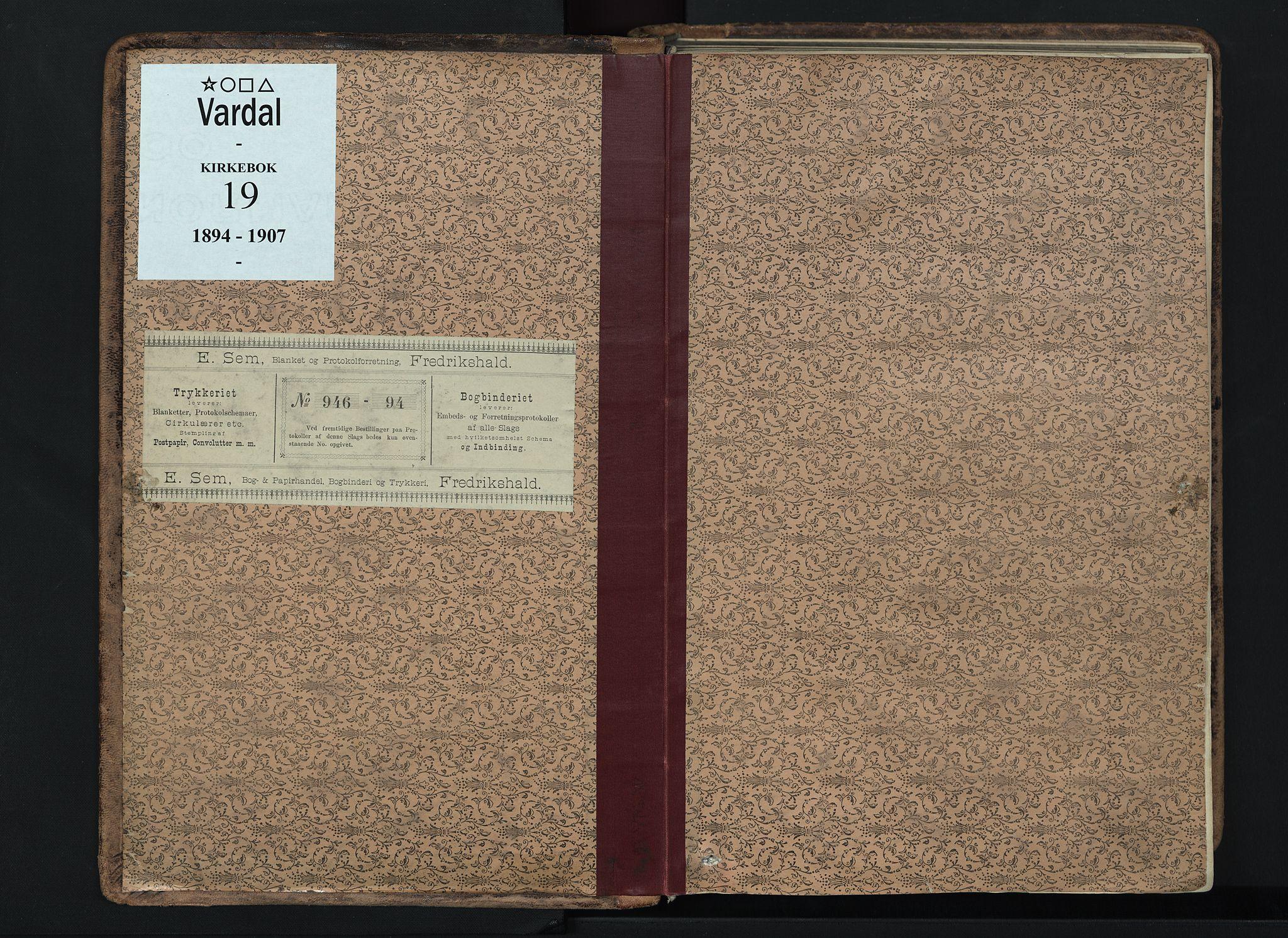 SAH, Vardal prestekontor, H/Ha/Haa/L0019: Ministerialbok nr. 19, 1893-1907