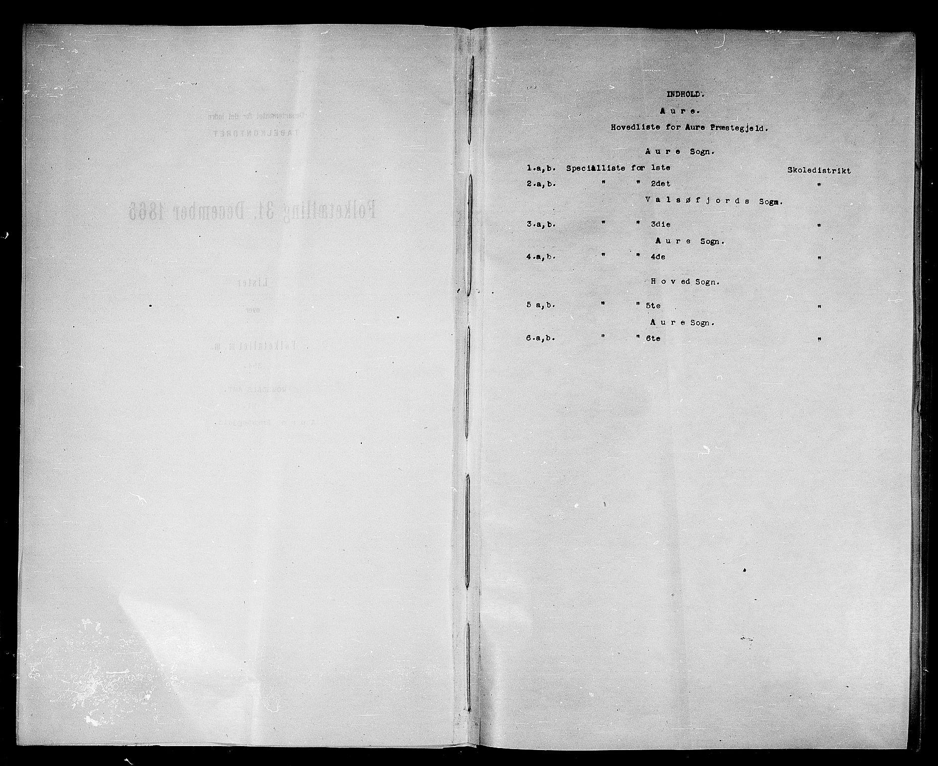 RA, Folketelling 1865 for 1569P Aure prestegjeld, 1865, s. 4