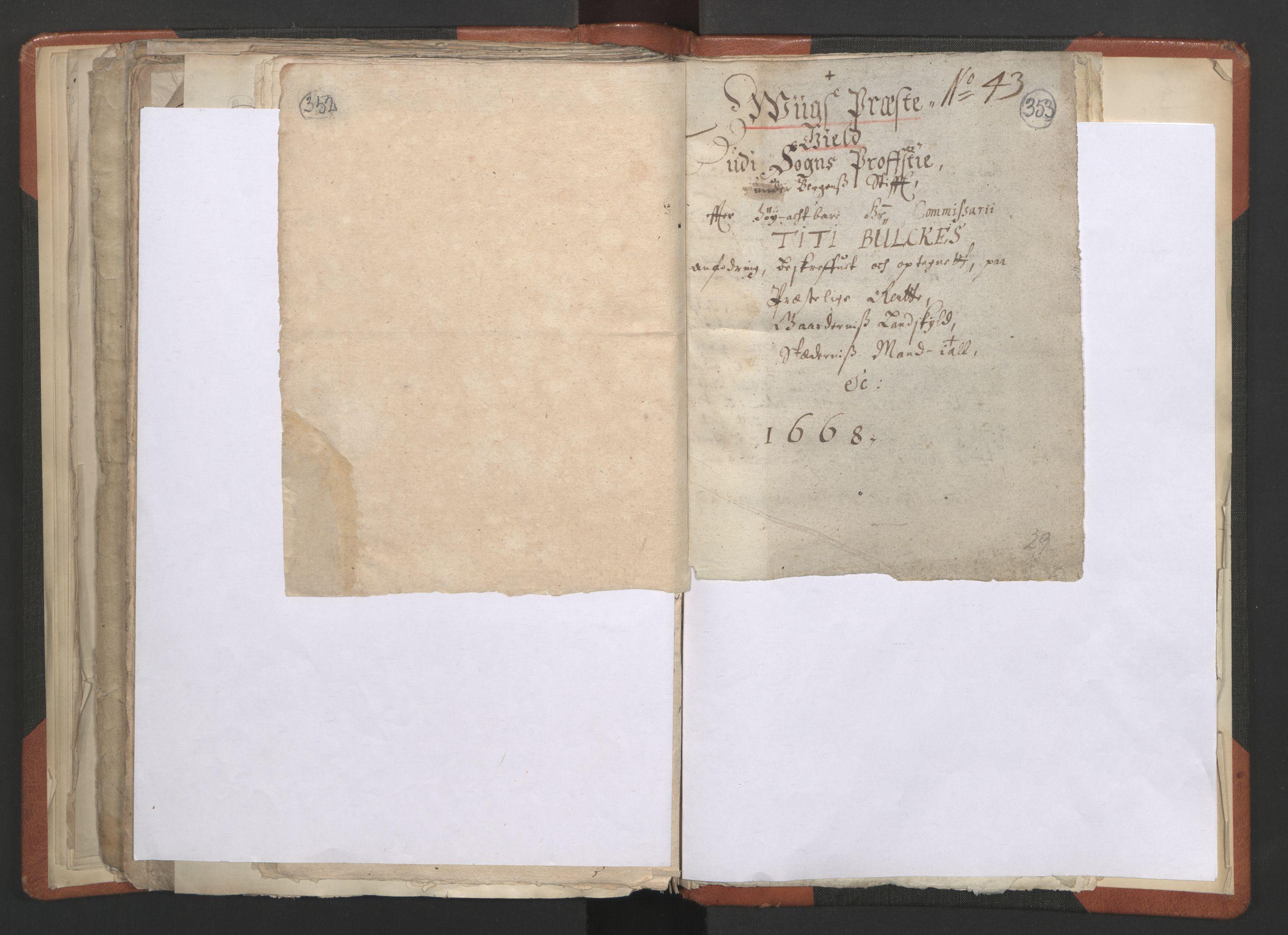 RA, Sogneprestenes manntall 1664-1666, nr. 23: Sogn prosti, 1664-1666, s. 352-353
