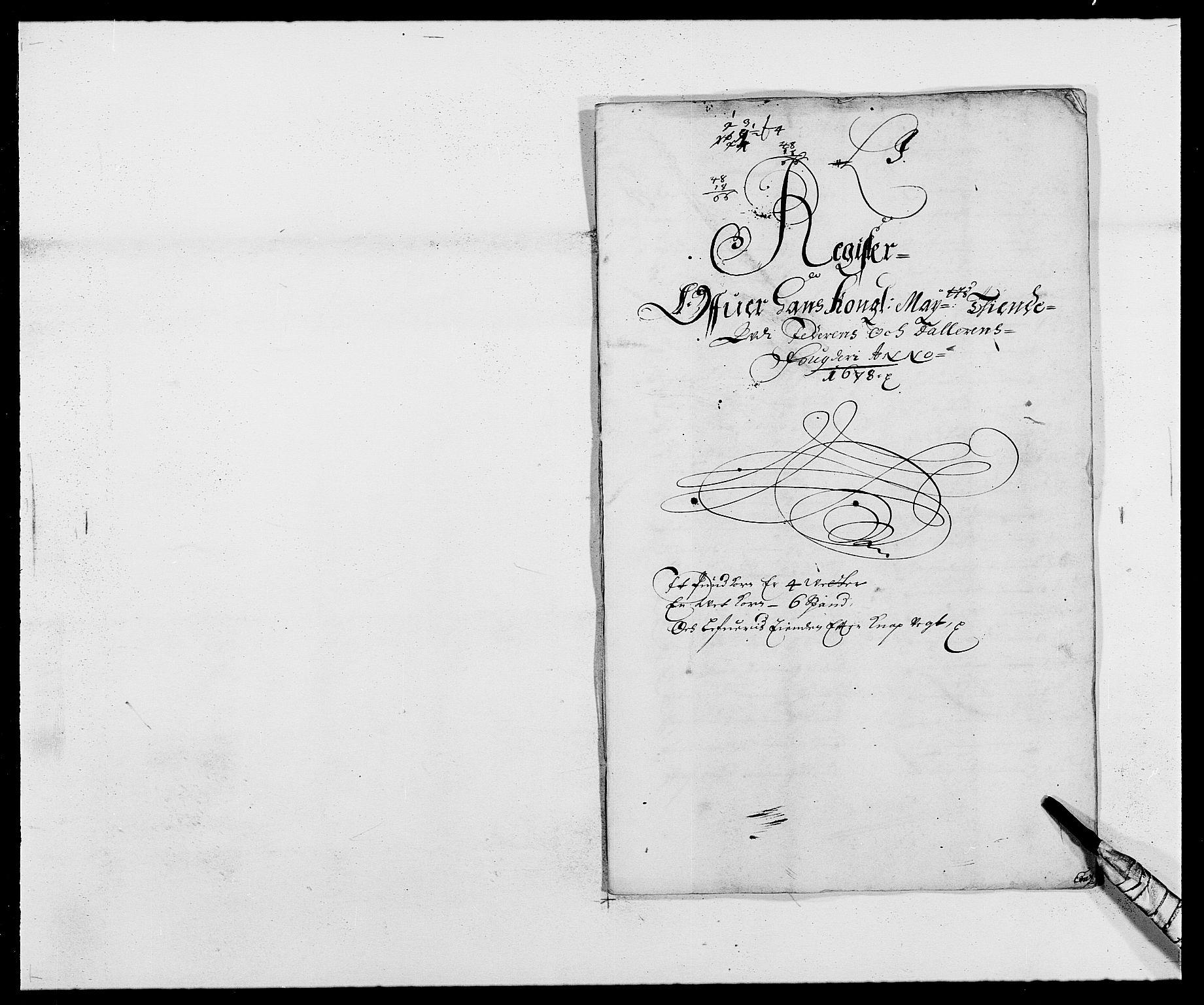 RA, Rentekammeret inntil 1814, Reviderte regnskaper, Fogderegnskap, R46/L2718: Fogderegnskap Jæren og Dalane, 1678, s. 275