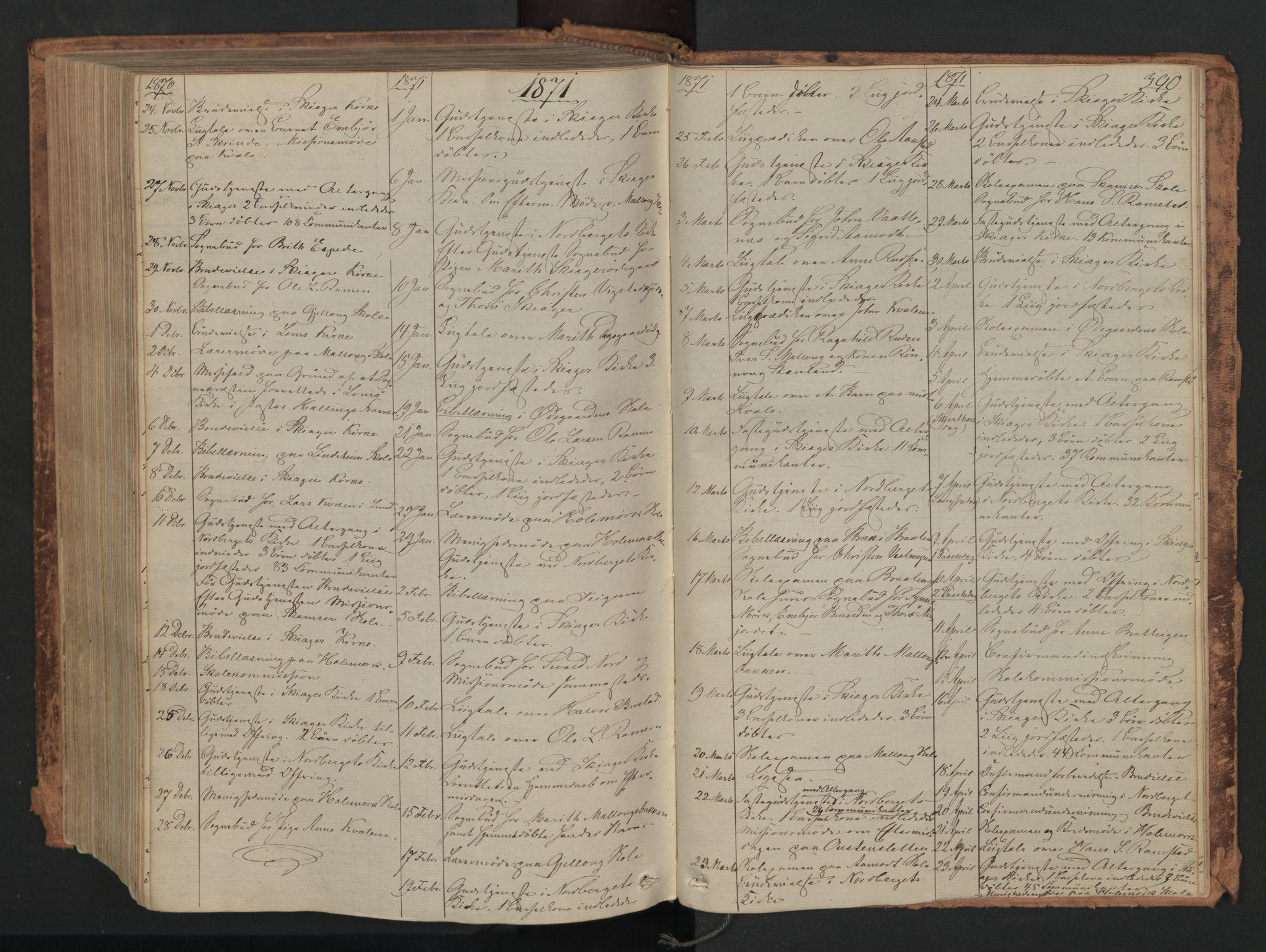 SAH, Skjåk prestekontor, Ministerialbok nr. 1, 1863-1879, s. 390