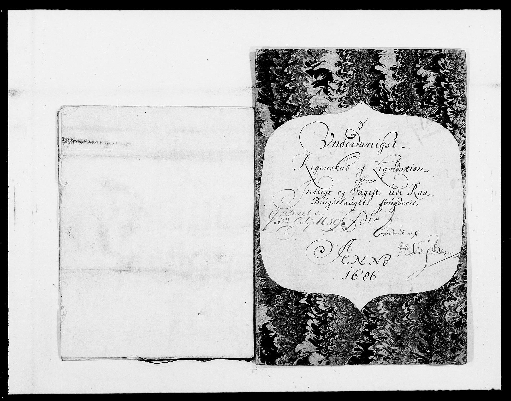 RA, Rentekammeret inntil 1814, Reviderte regnskaper, Fogderegnskap, R40/L2440: Fogderegnskap Råbyggelag, 1686-1687, s. 5