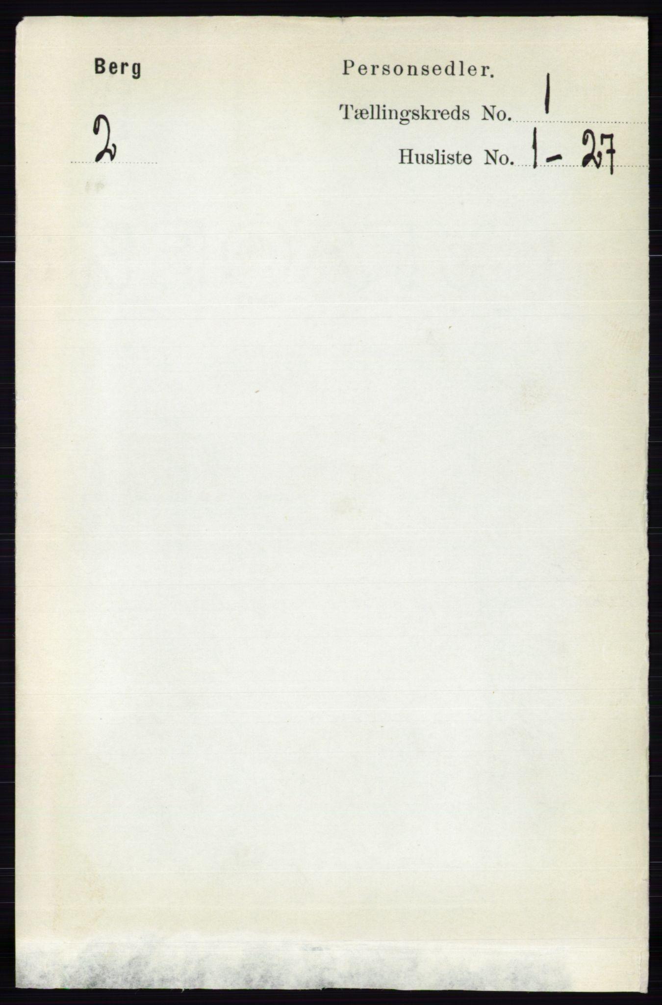 RA, Folketelling 1891 for 0116 Berg herred, 1891, s. 157
