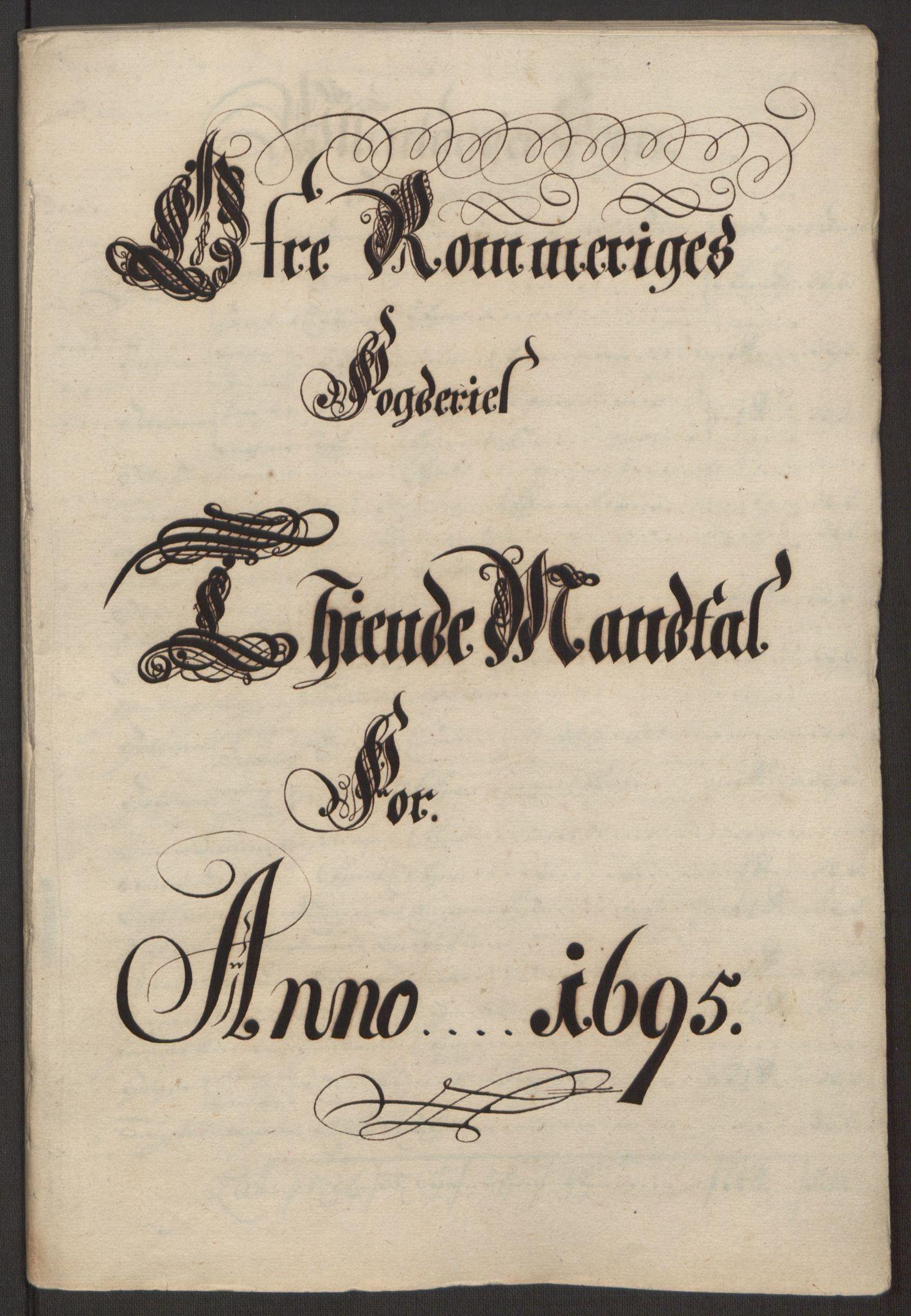 RA, Rentekammeret inntil 1814, Reviderte regnskaper, Fogderegnskap, R12/L0707: Fogderegnskap Øvre Romerike, 1695, s. 20