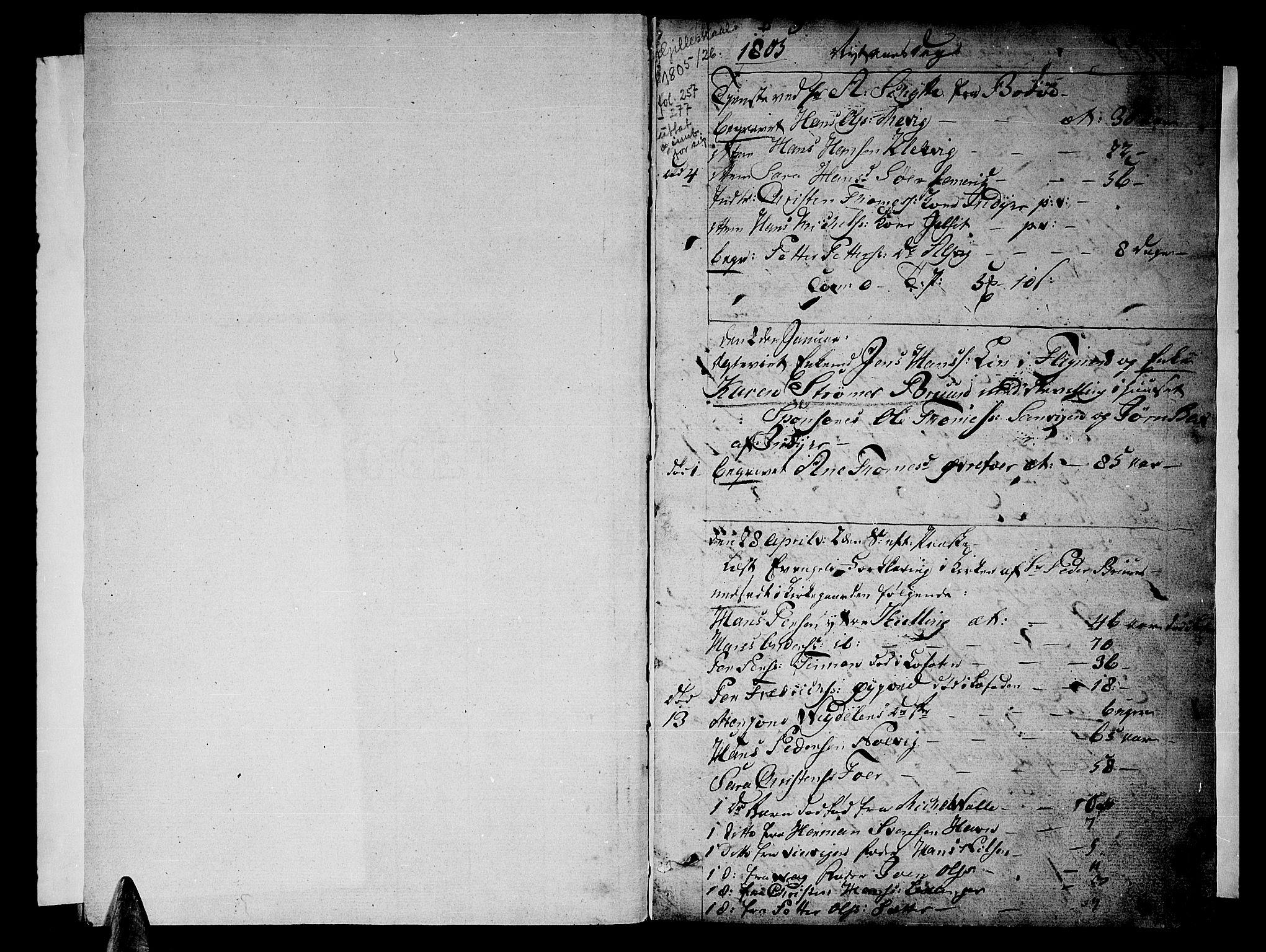 SAT, Ministerialprotokoller, klokkerbøker og fødselsregistre - Nordland, 805/L0095: Ministerialbok nr. 805A02, 1805-1826, s. 1