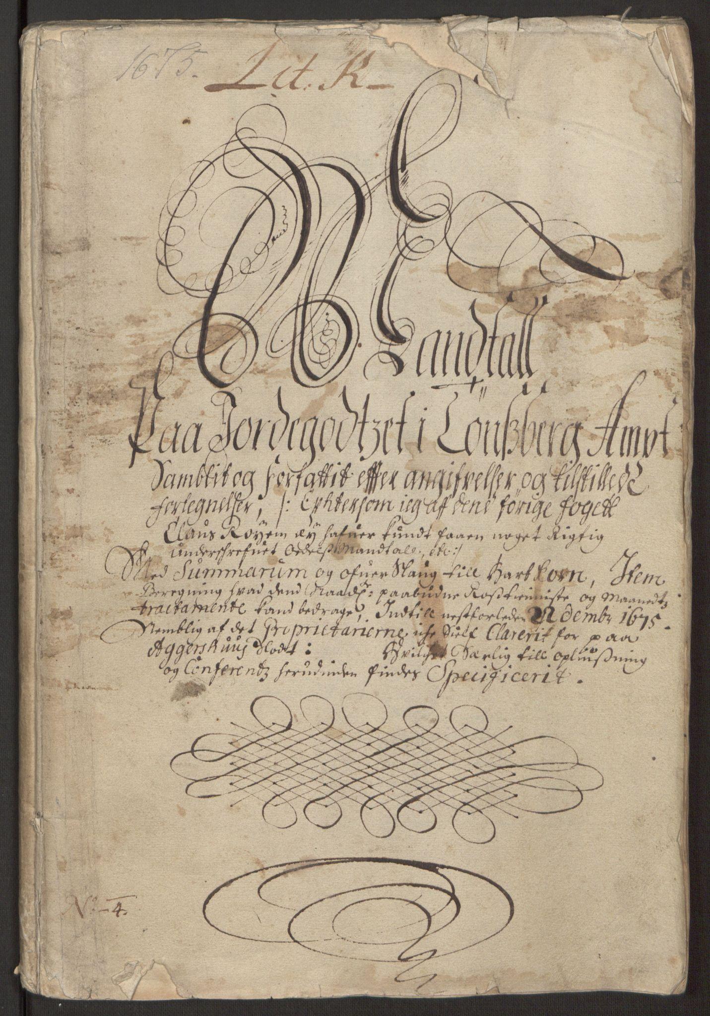 RA, Rentekammeret inntil 1814, Reviderte regnskaper, Fogderegnskap, R32/L1843: Fogderegnskap Jarlsberg grevskap, 1674-1675, s. 407