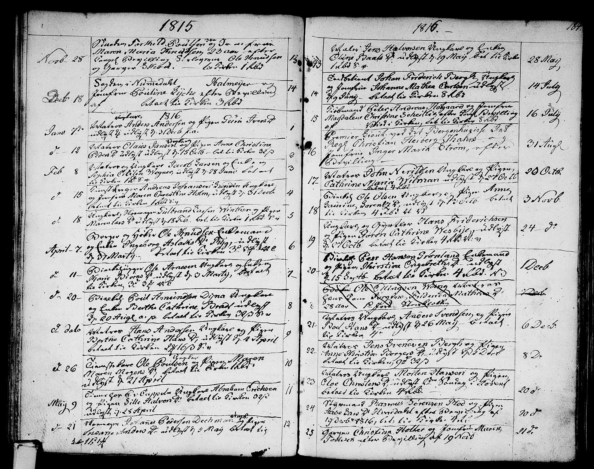 SAKO, Strømsø kirkebøker, F/Fa/L0010: Ministerialbok nr. I 10, 1792-1822, s. 184