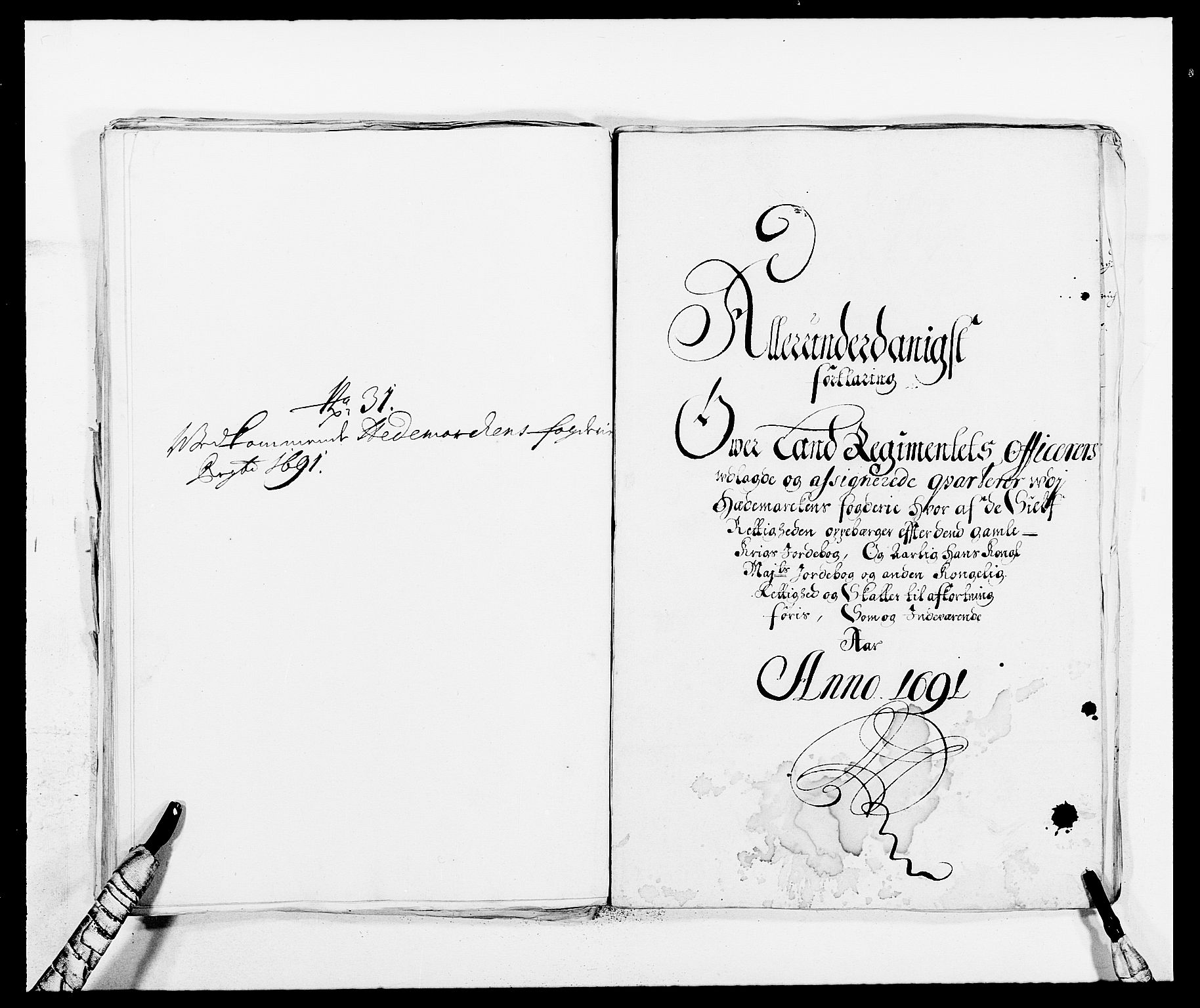 RA, Rentekammeret inntil 1814, Reviderte regnskaper, Fogderegnskap, R16/L1032: Fogderegnskap Hedmark, 1689-1692, s. 19