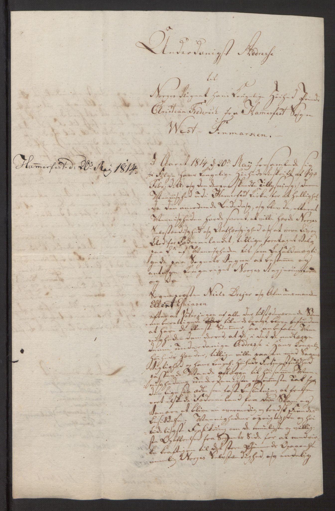 SATØ, Amtmannen/Fylkesmannen i Finnmark*, 1814, s. 9