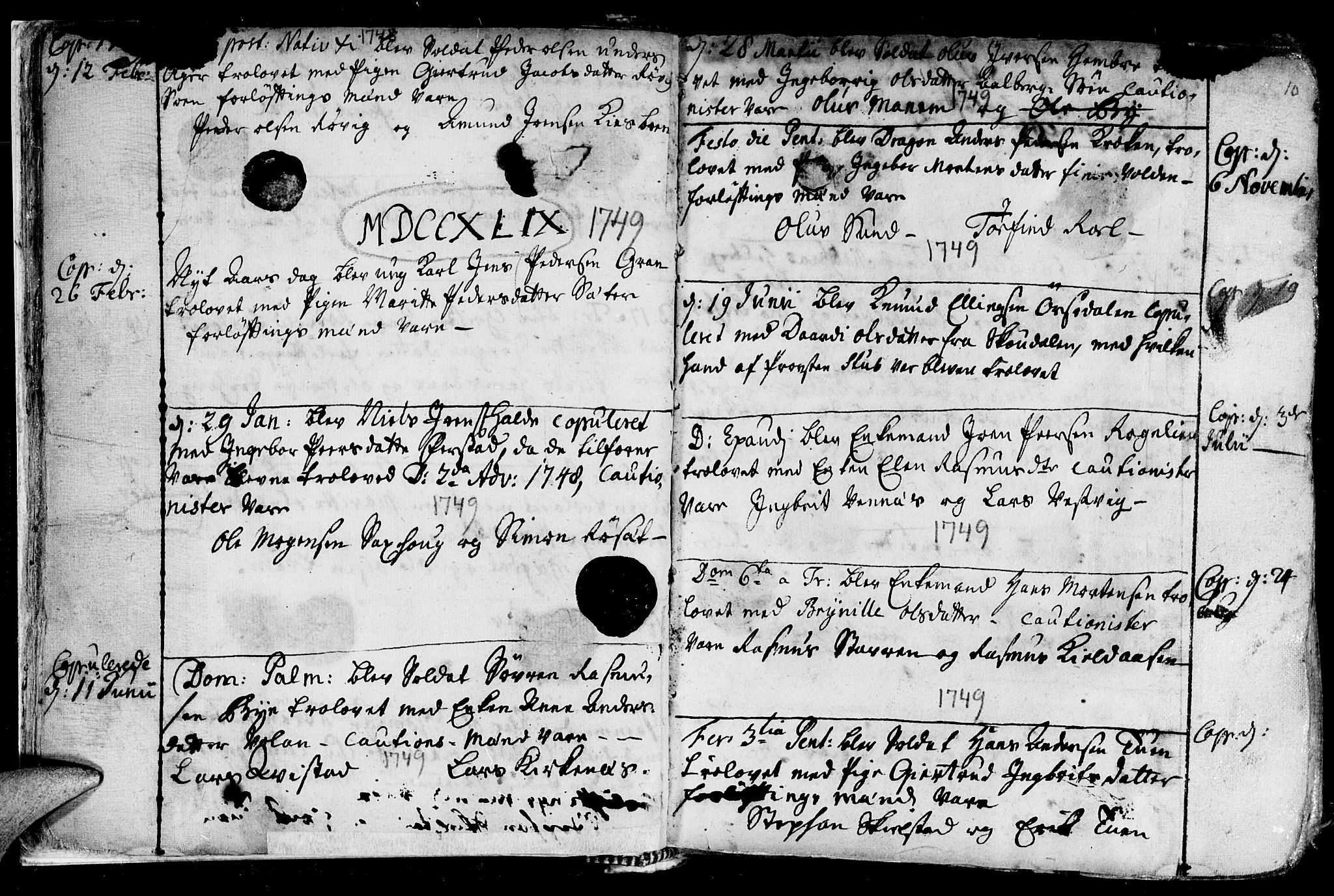 SAT, Ministerialprotokoller, klokkerbøker og fødselsregistre - Nord-Trøndelag, 730/L0272: Ministerialbok nr. 730A01, 1733-1764, s. 10