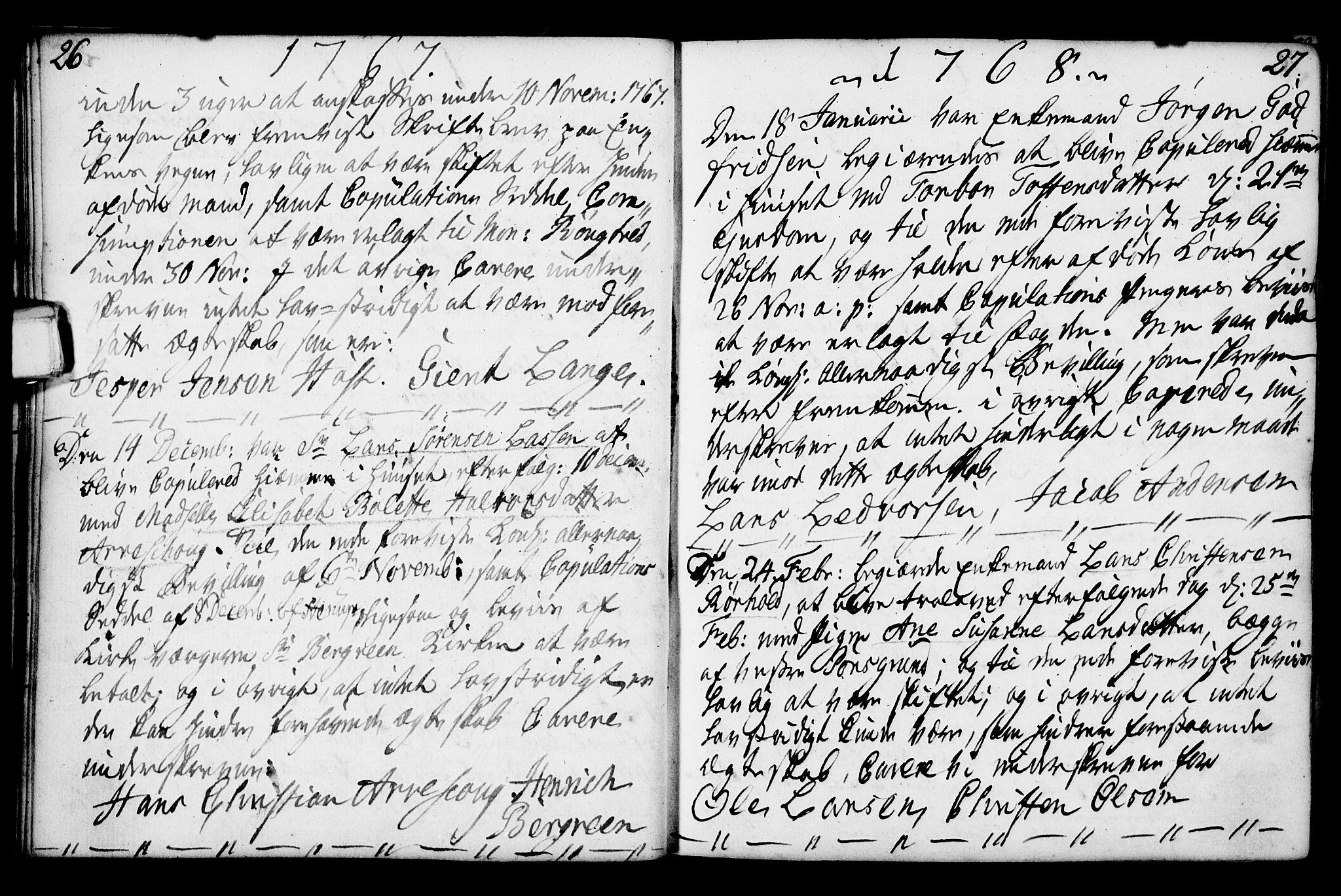 SAKO, Porsgrunn kirkebøker , F/Fa/L0003: Ministerialbok nr. 3, 1764-1814, s. 26-27