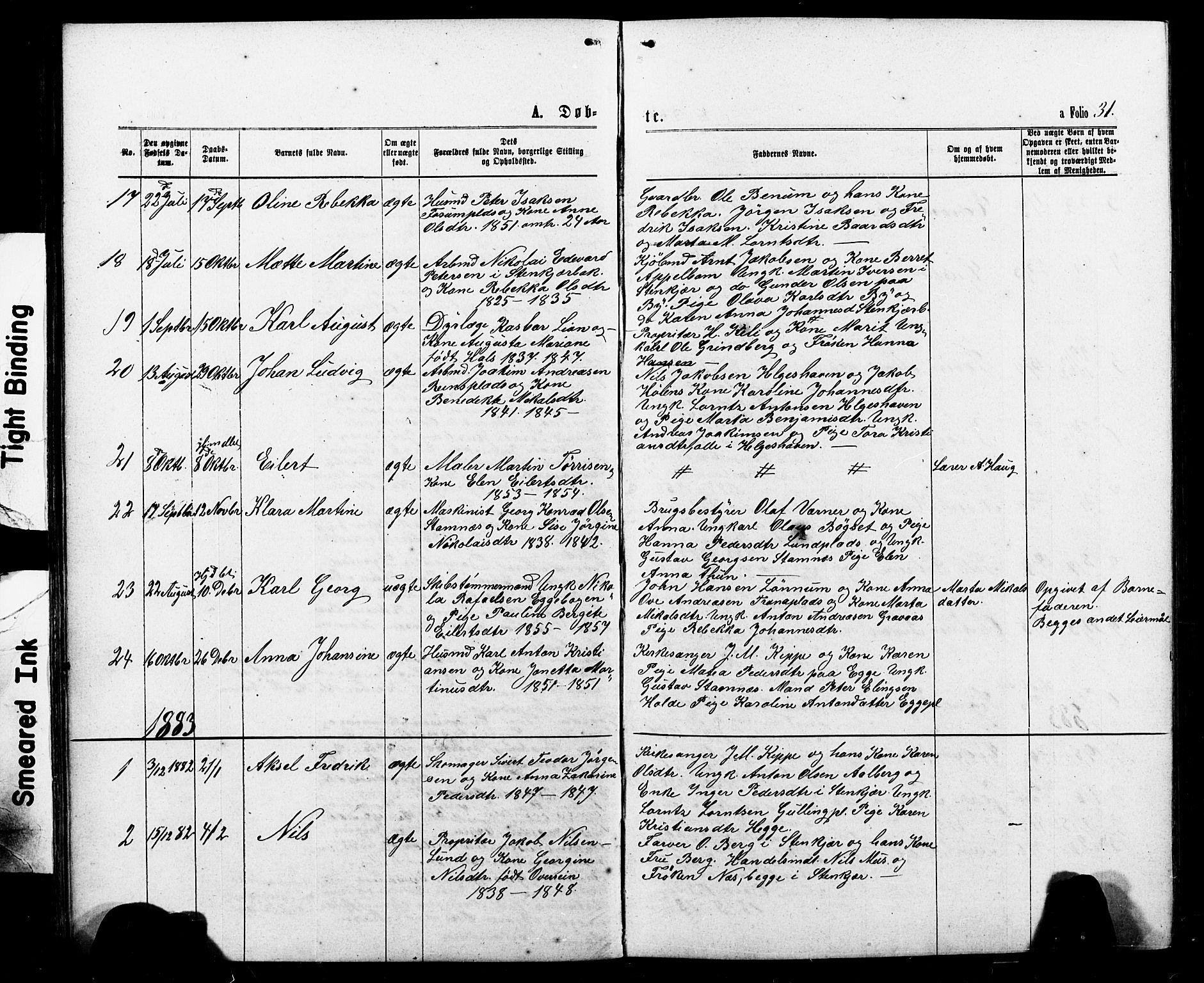 SAT, Ministerialprotokoller, klokkerbøker og fødselsregistre - Nord-Trøndelag, 740/L0380: Klokkerbok nr. 740C01, 1868-1902, s. 31