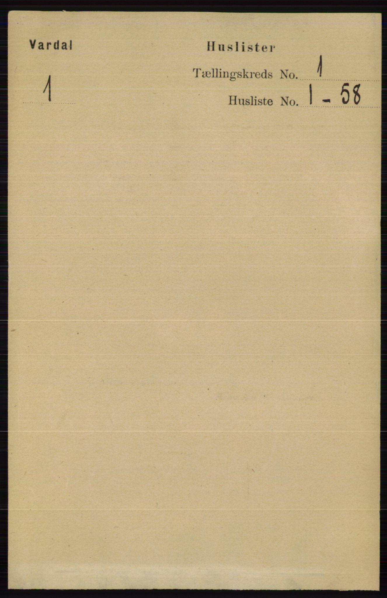 RA, Folketelling 1891 for 0527 Vardal herred, 1891, s. 24