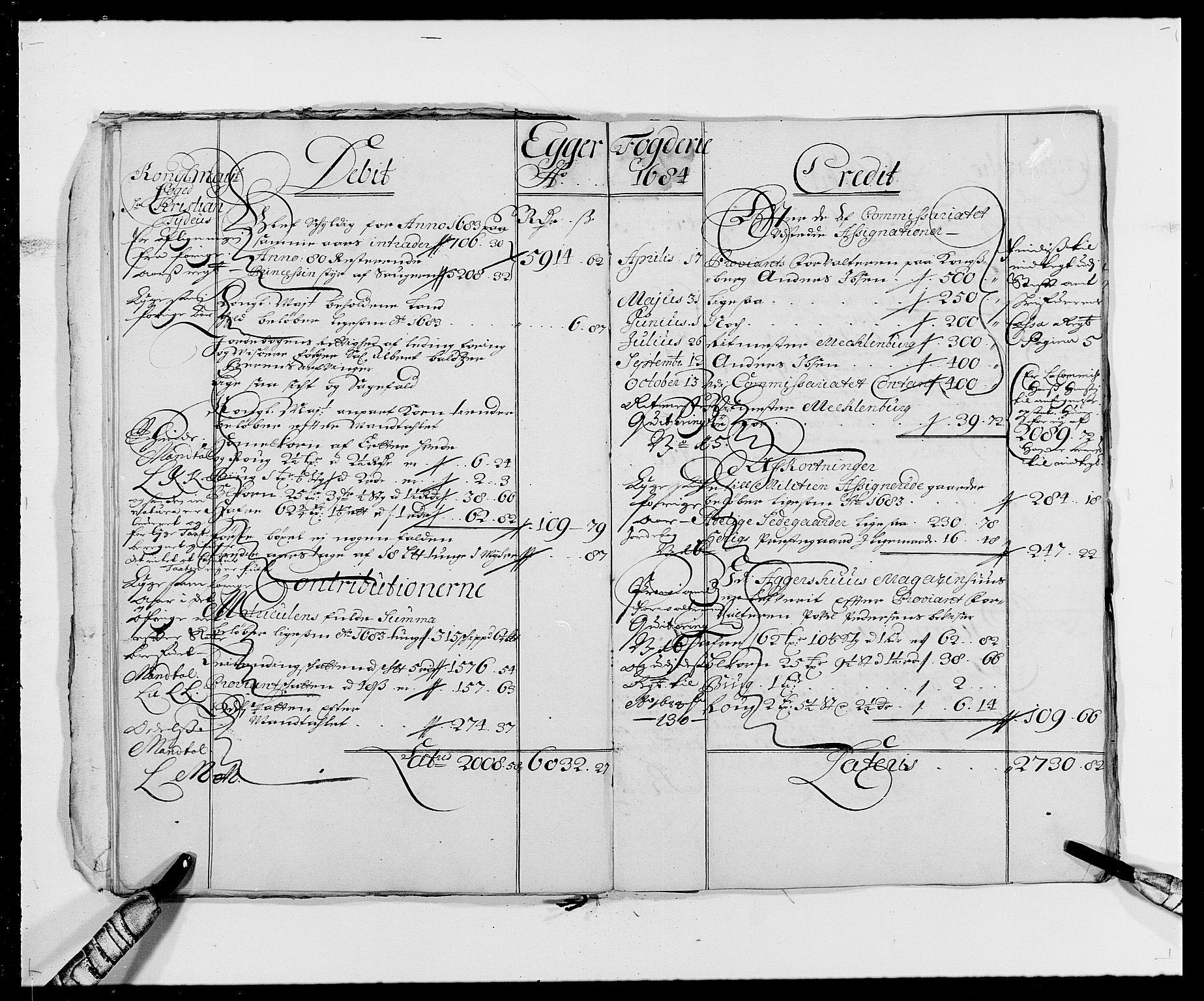 RA, Rentekammeret inntil 1814, Reviderte regnskaper, Fogderegnskap, R26/L1684: Fogderegnskap Eiker, 1679-1686, s. 21