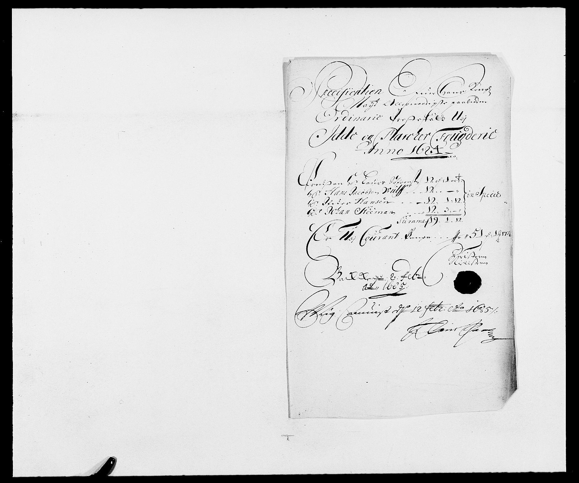 RA, Rentekammeret inntil 1814, Reviderte regnskaper, Fogderegnskap, R01/L0005: Fogderegnskap Idd og Marker , 1682-1684, s. 212