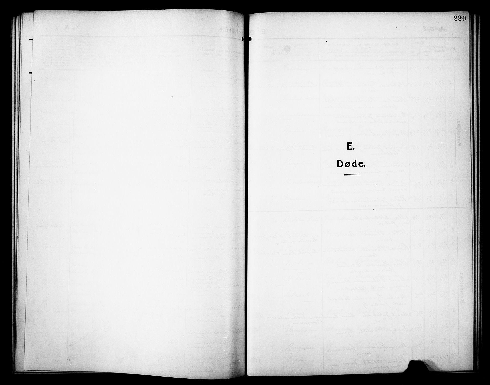SAH, Sør-Fron prestekontor, H/Ha/Hab/L0005: Klokkerbok nr. 5, 1912-1930, s. 220