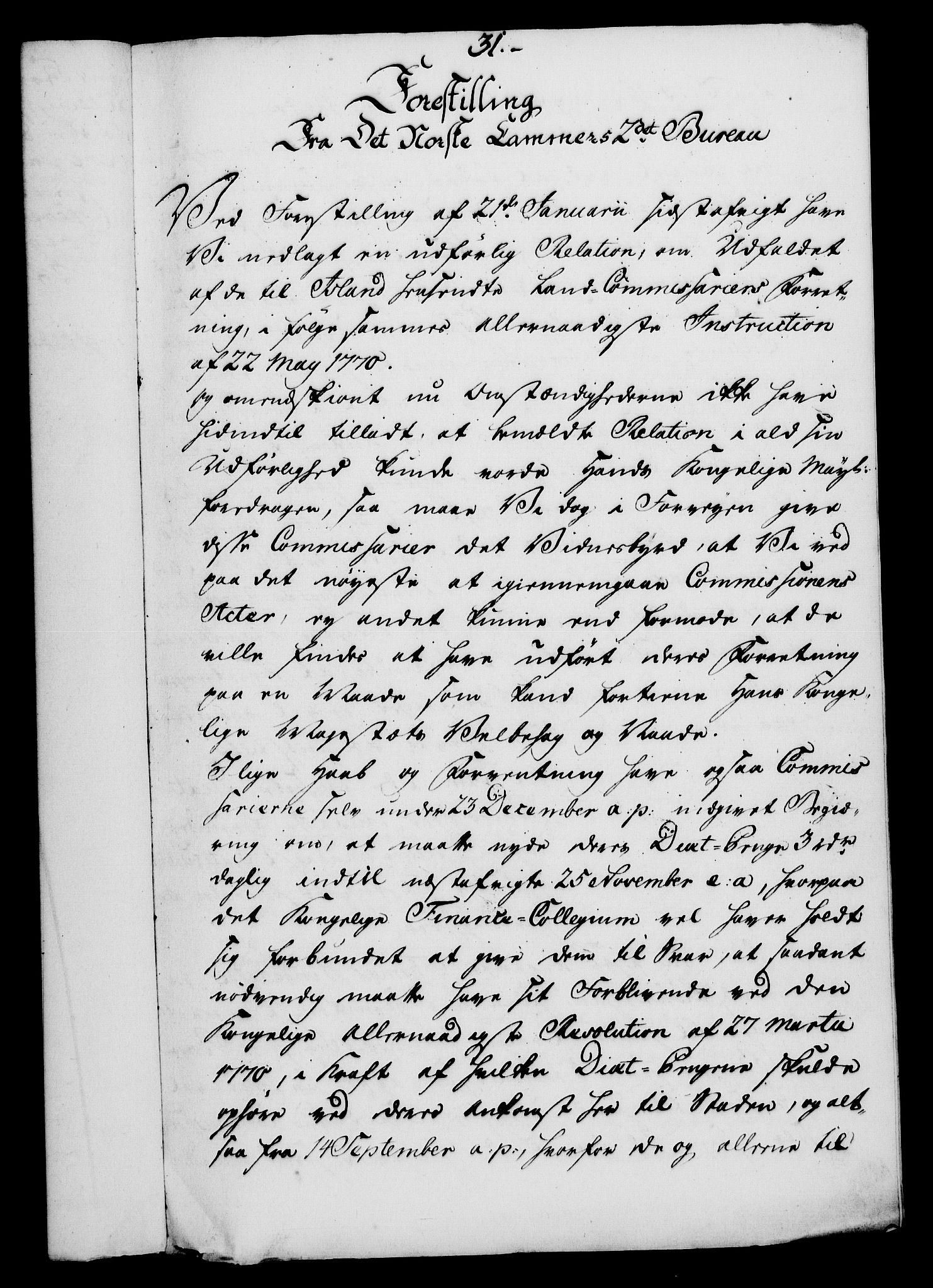 RA, Rentekammeret, Kammerkanselliet, G/Gf/Gfa/L0054: Norsk relasjons- og resolusjonsprotokoll (merket RK 52.54), 1771-1772, s. 320