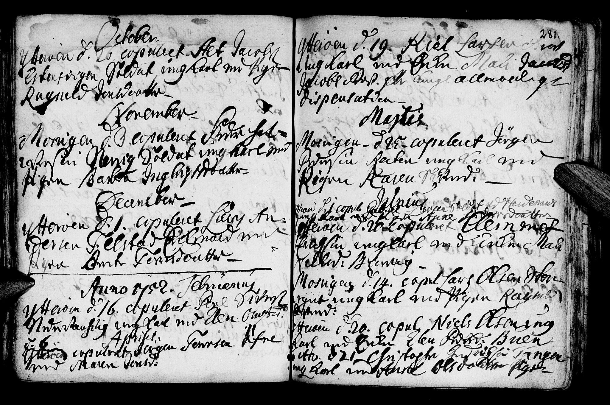 SAT, Ministerialprotokoller, klokkerbøker og fødselsregistre - Nord-Trøndelag, 722/L0215: Ministerialbok nr. 722A02, 1718-1755, s. 281