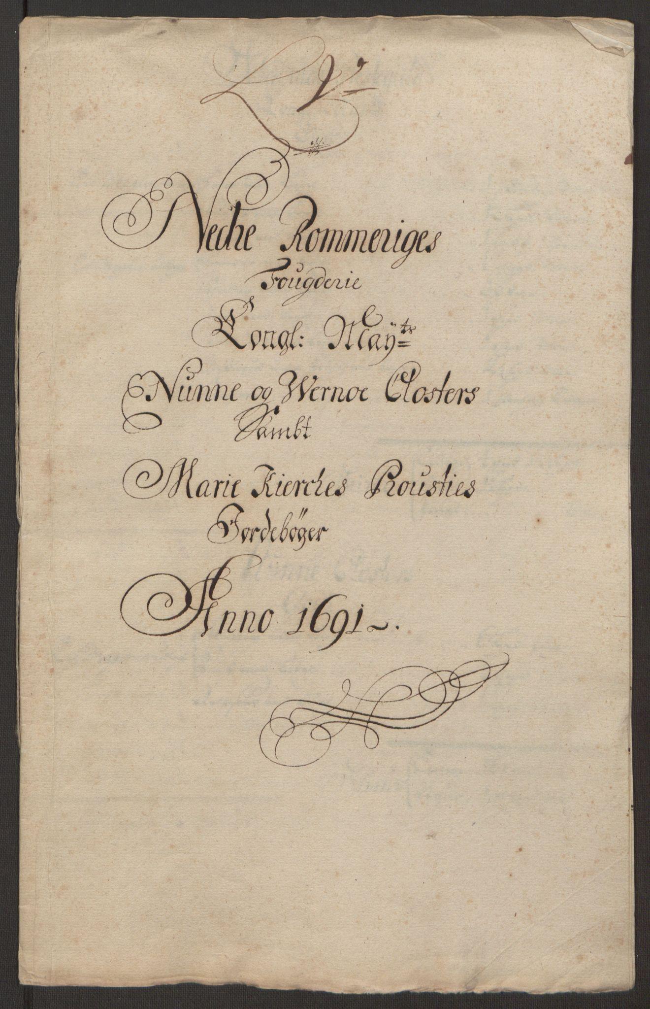 RA, Rentekammeret inntil 1814, Reviderte regnskaper, Fogderegnskap, R11/L0575: Fogderegnskap Nedre Romerike, 1691, s. 3