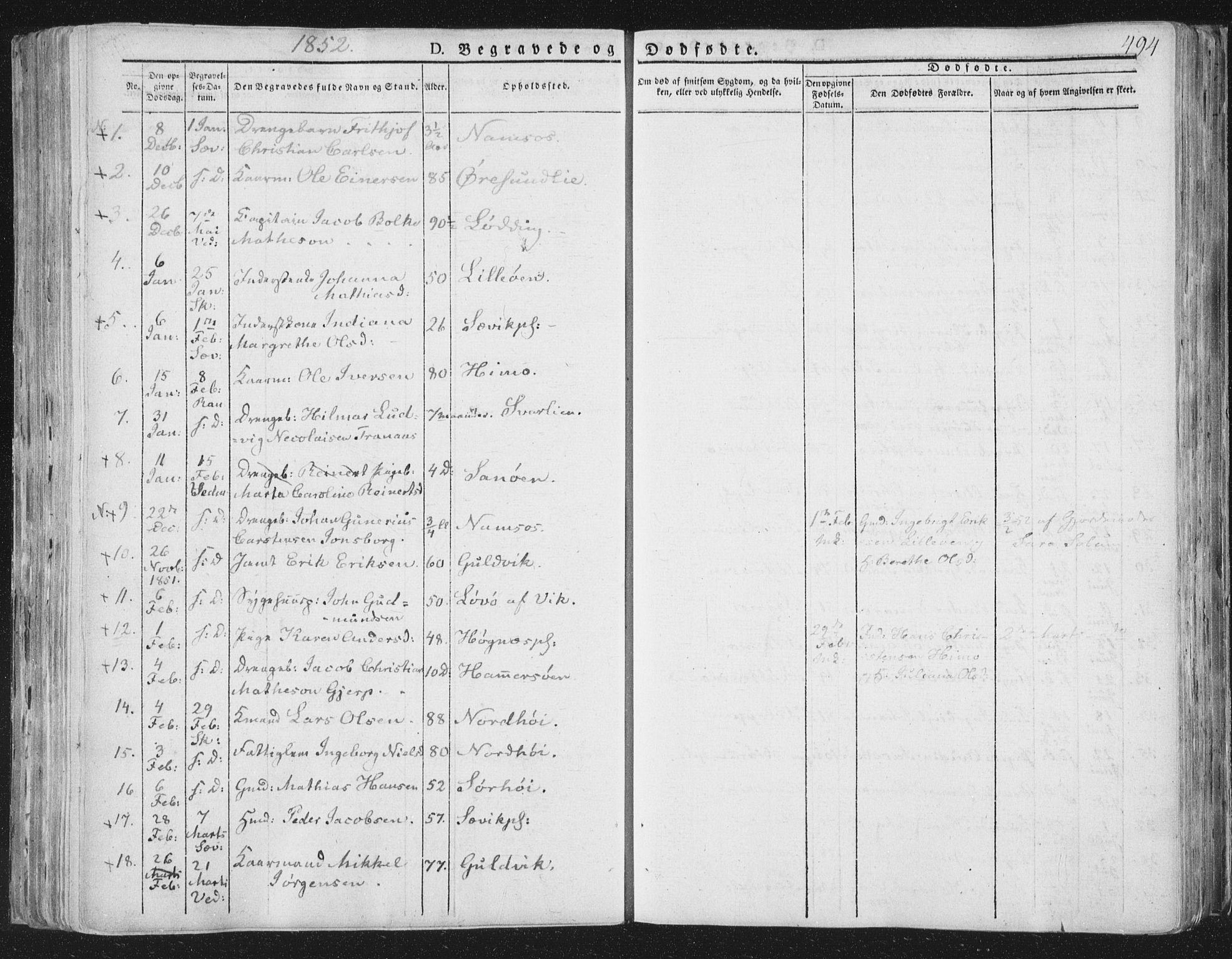 SAT, Ministerialprotokoller, klokkerbøker og fødselsregistre - Nord-Trøndelag, 764/L0552: Ministerialbok nr. 764A07b, 1824-1865, s. 494