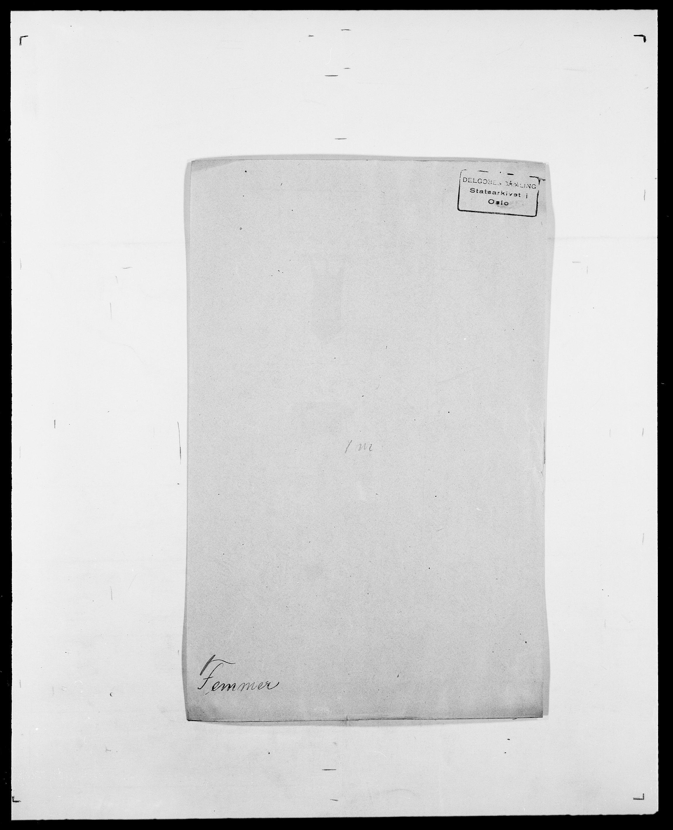 SAO, Delgobe, Charles Antoine - samling, D/Da/L0011: Fahlander - Flood, Flod, s. 353