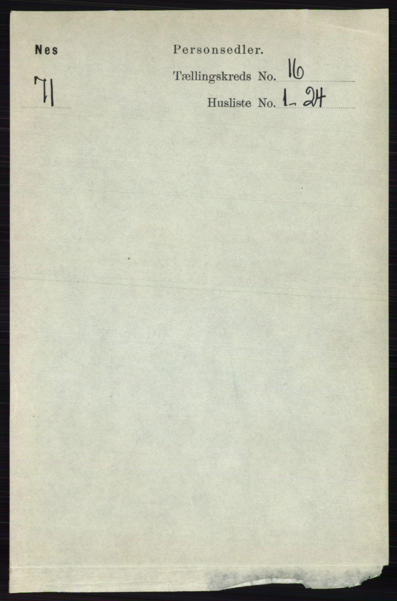 RA, Folketelling 1891 for 0236 Nes herred, 1891, s. 9548