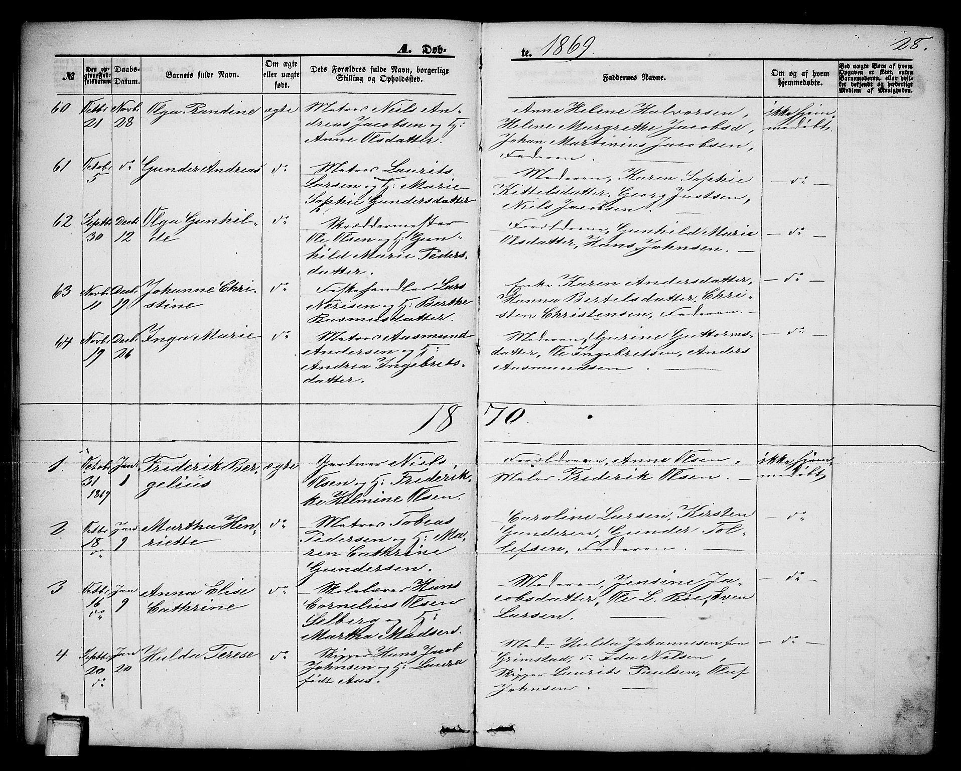 SAKO, Brevik kirkebøker, G/Ga/L0003: Klokkerbok nr. 3, 1866-1881, s. 28