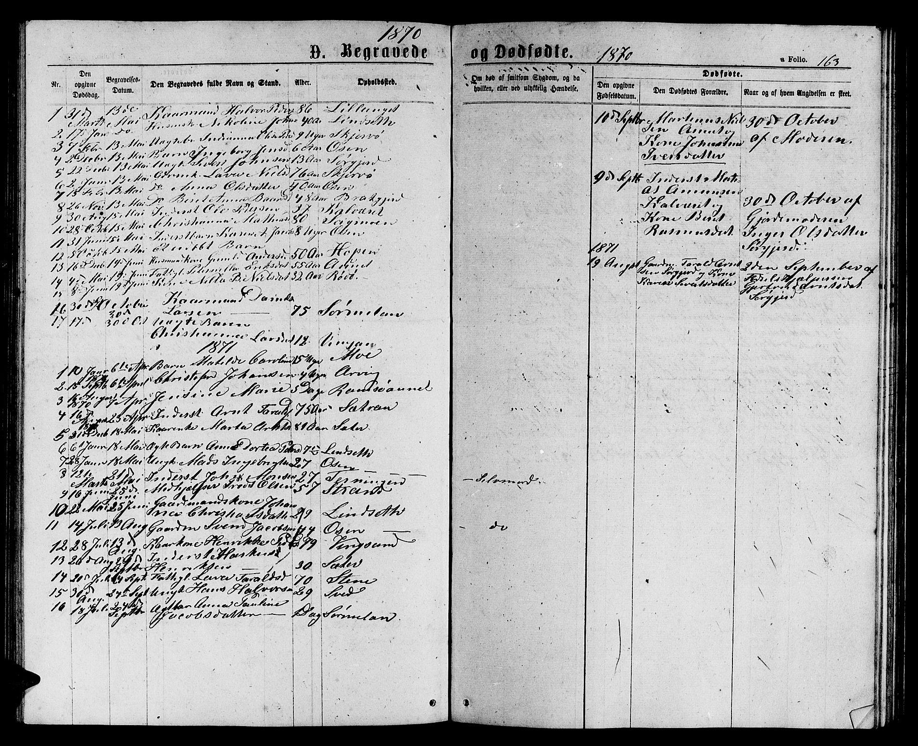 SAT, Ministerialprotokoller, klokkerbøker og fødselsregistre - Sør-Trøndelag, 658/L0725: Klokkerbok nr. 658C01, 1867-1882, s. 163