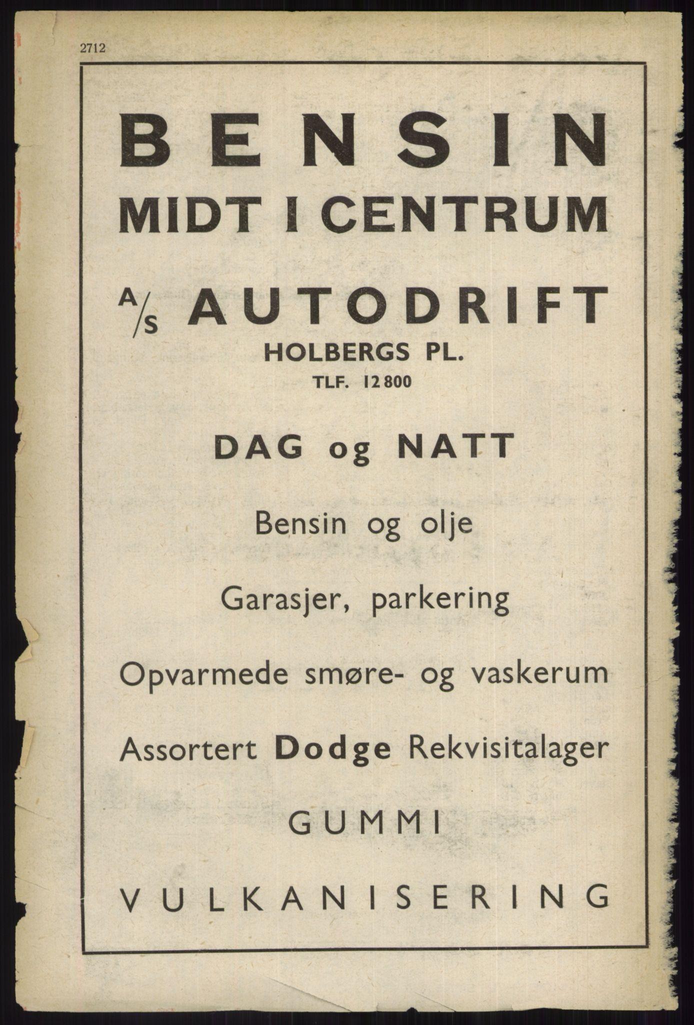 RA, Oslo adressebok (publikasjon)*, 1937, s. 2712