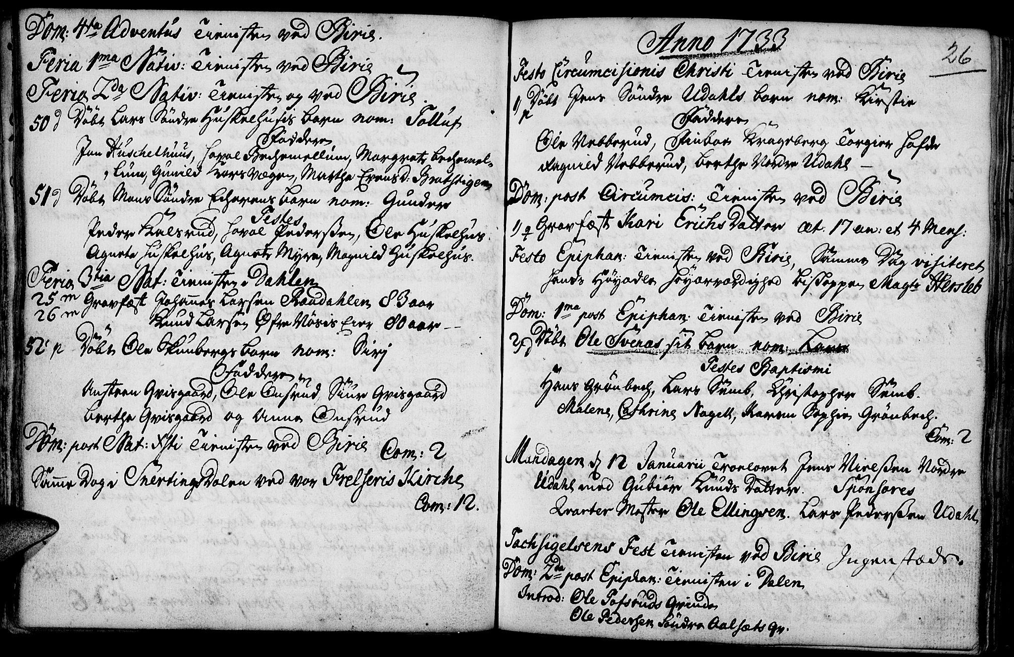 SAH, Biri prestekontor, Ministerialbok nr. 1, 1730-1754, s. 26