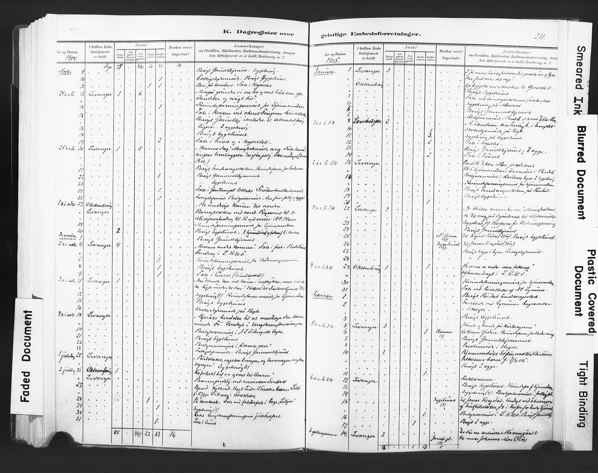 SAT, Ministerialprotokoller, klokkerbøker og fødselsregistre - Nord-Trøndelag, 720/L0189: Ministerialbok nr. 720A05, 1880-1911, s. 211