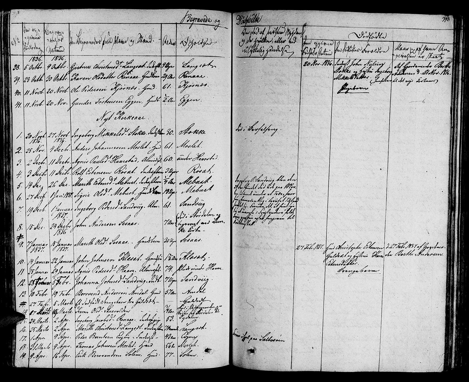 SAT, Ministerialprotokoller, klokkerbøker og fødselsregistre - Sør-Trøndelag, 695/L1143: Ministerialbok nr. 695A05 /1, 1824-1842, s. 390