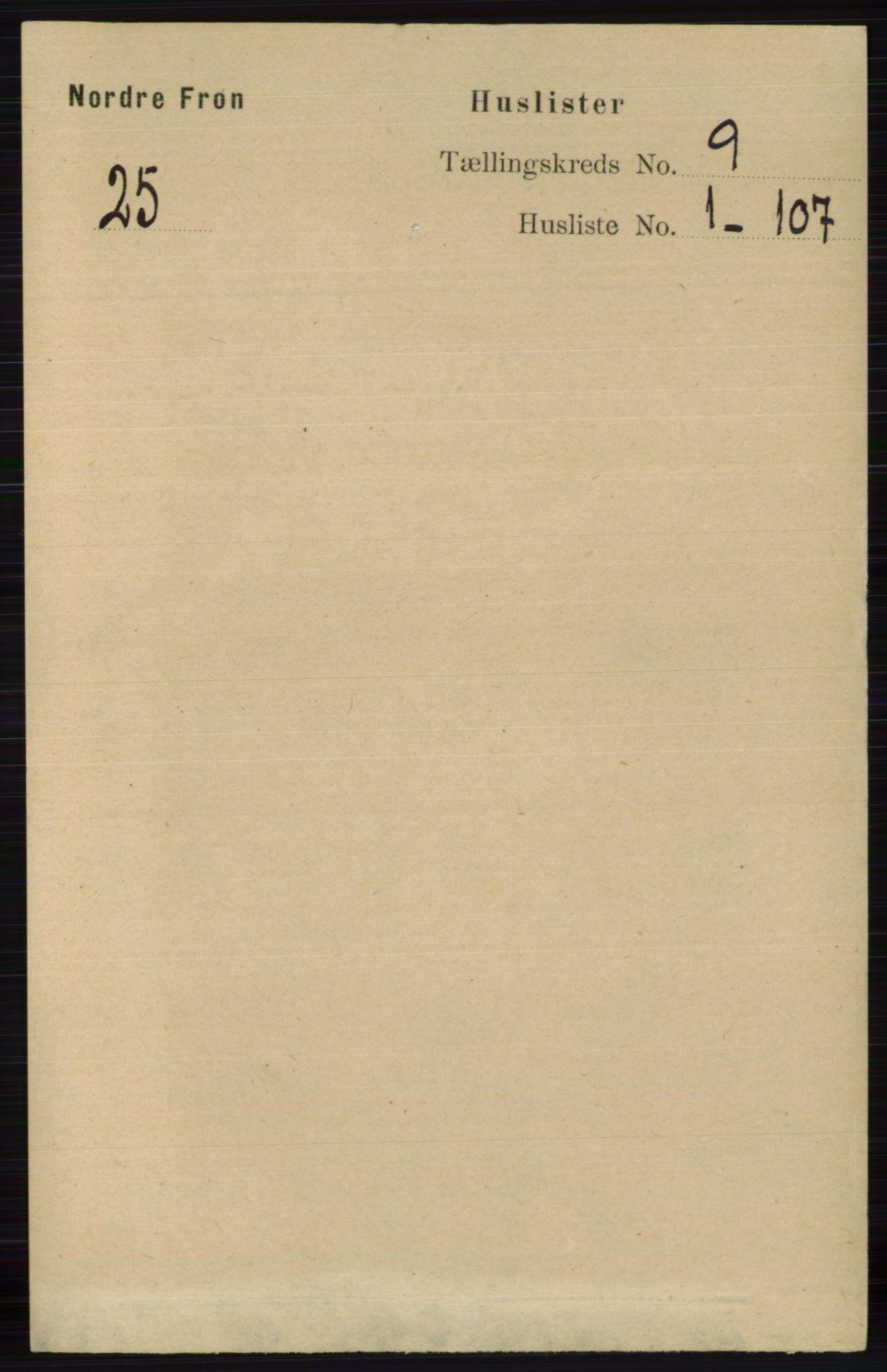 RA, Folketelling 1891 for 0518 Nord-Fron herred, 1891, s. 3594