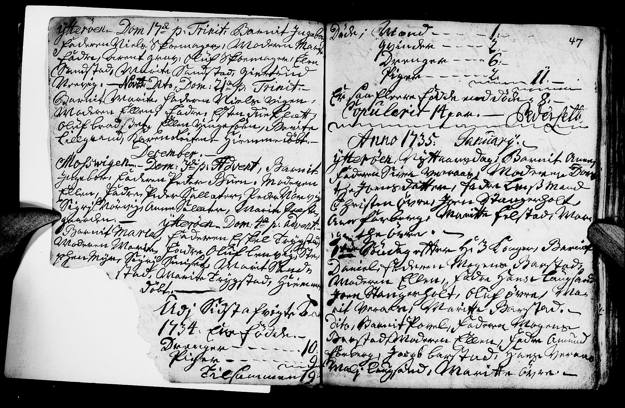 SAT, Ministerialprotokoller, klokkerbøker og fødselsregistre - Nord-Trøndelag, 722/L0215: Ministerialbok nr. 722A02, 1718-1755, s. 47