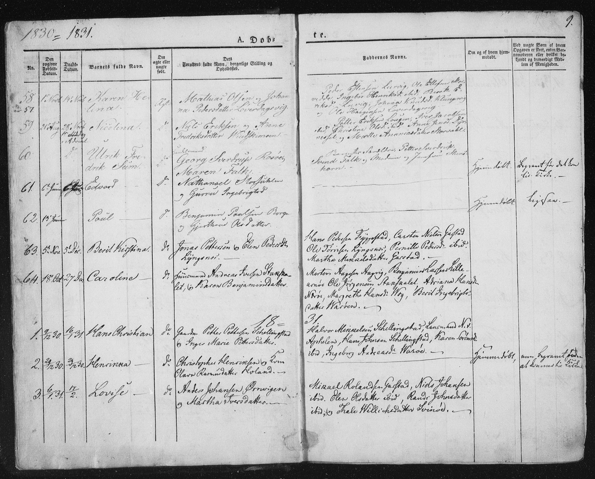 SAT, Ministerialprotokoller, klokkerbøker og fødselsregistre - Nord-Trøndelag, 784/L0669: Ministerialbok nr. 784A04, 1829-1859, s. 9