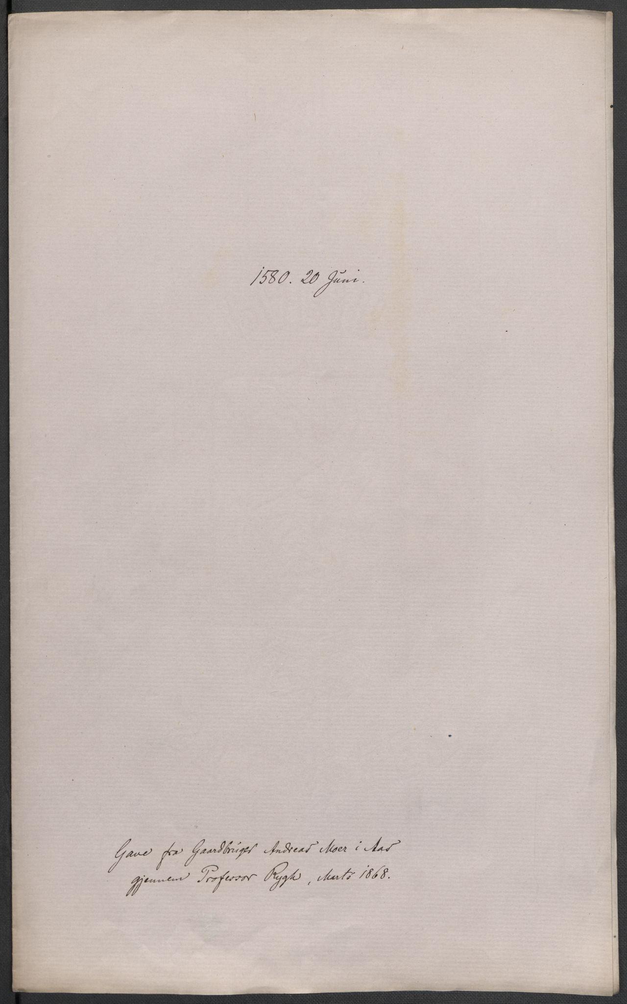 RA, Riksarkivets diplomsamling, F02/L0082: Dokumenter, 1580, s. 36