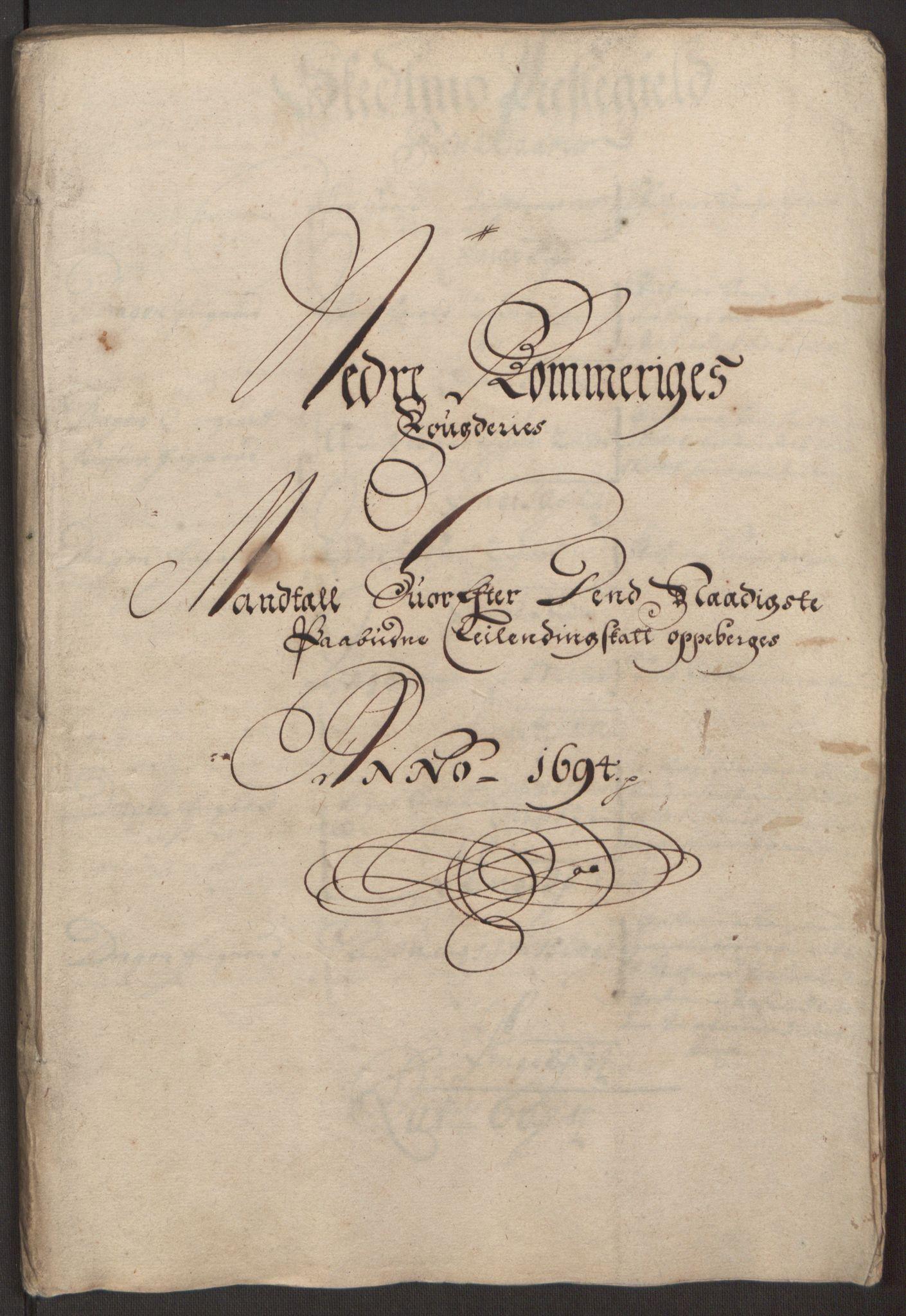 RA, Rentekammeret inntil 1814, Reviderte regnskaper, Fogderegnskap, R11/L0579: Fogderegnskap Nedre Romerike, 1694-1695, s. 60
