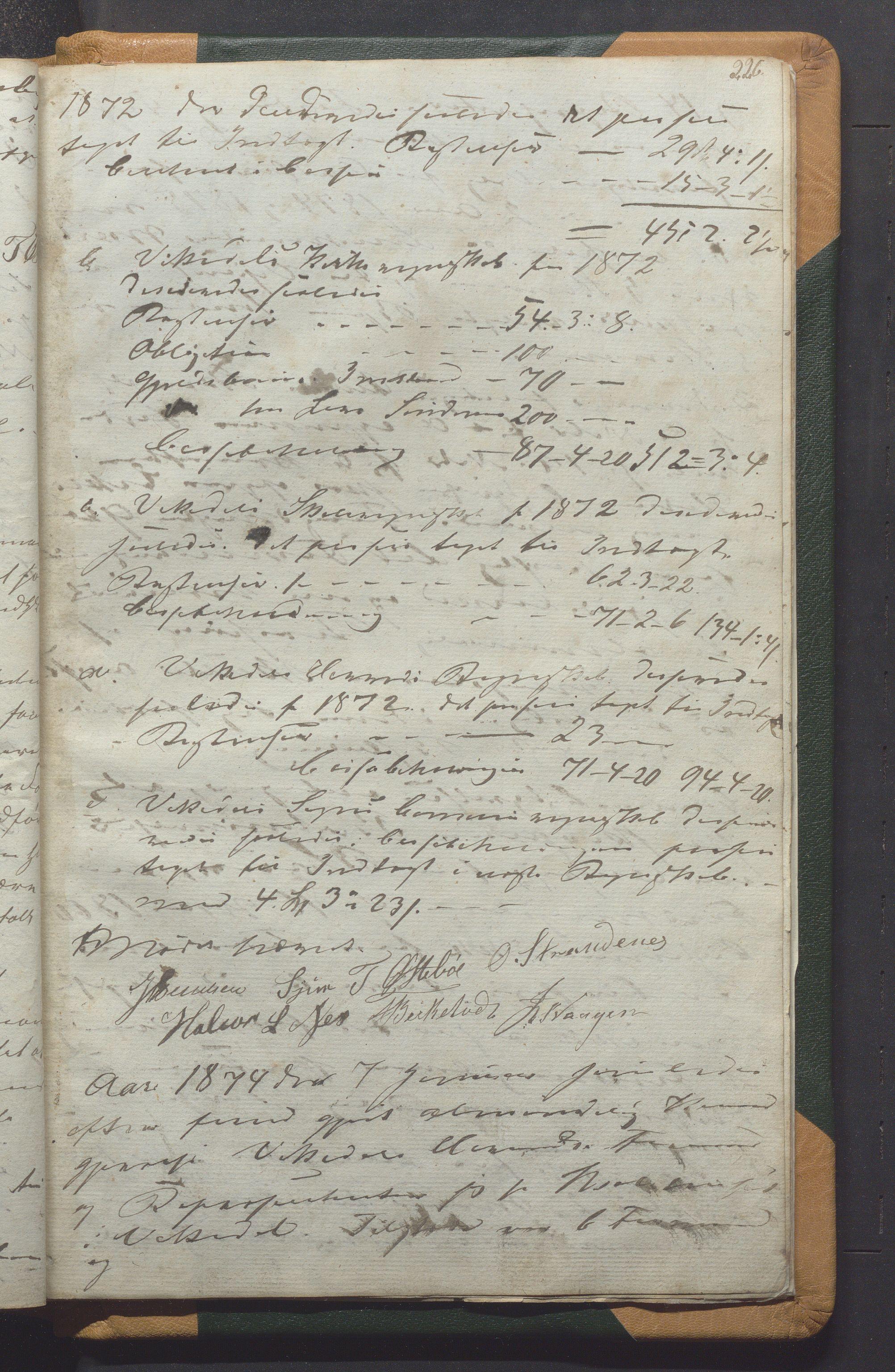 IKAR, Vikedal kommune - Formannskapet, Aaa/L0001: Møtebok, 1837-1874, s. 226a