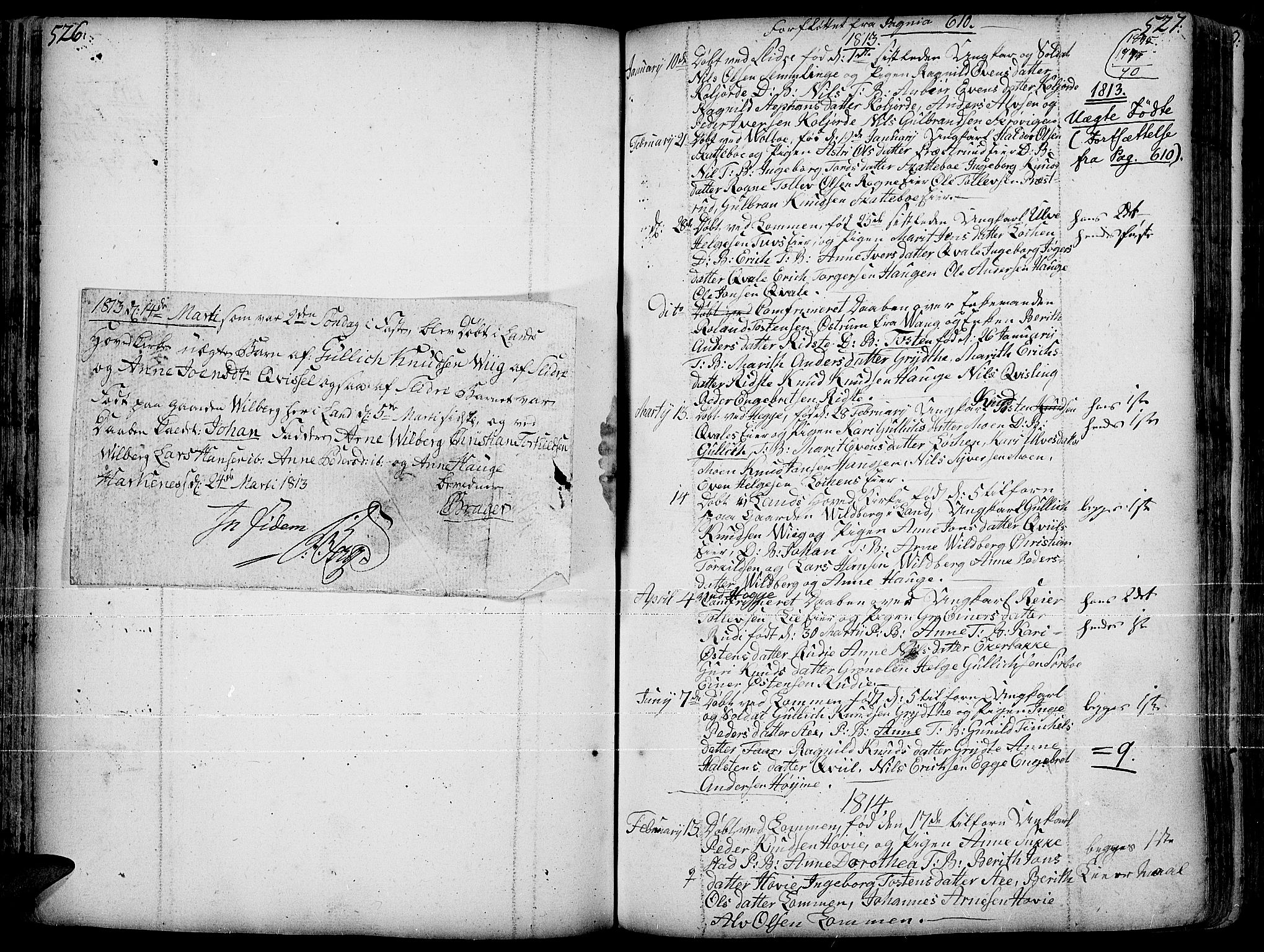 SAH, Slidre prestekontor, Ministerialbok nr. 1, 1724-1814, s. 526-527