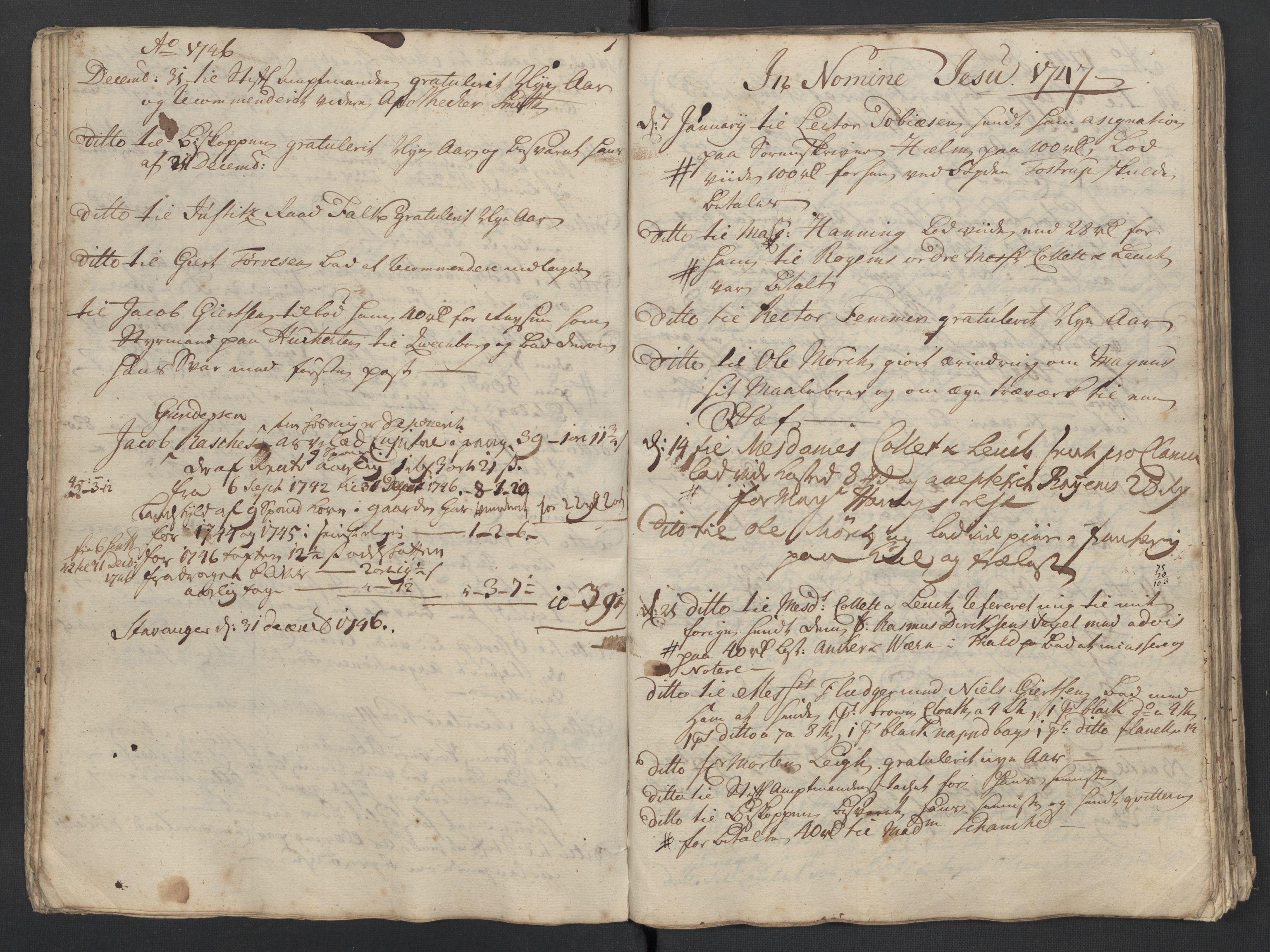 SAST, Pa 0119 - Smith, Lauritz Andersen og Lauritz Lauritzen, O/L0001: Kopibøker m.m., 1746-1755, s. 33