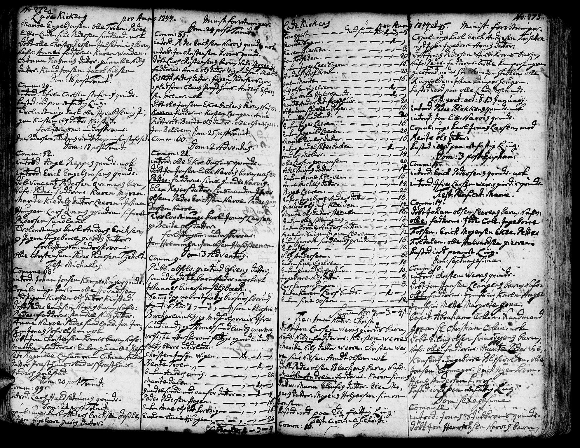 SAT, Ministerialprotokoller, klokkerbøker og fødselsregistre - Sør-Trøndelag, 606/L0275: Ministerialbok nr. 606A01 /1, 1727-1780, s. 272-273