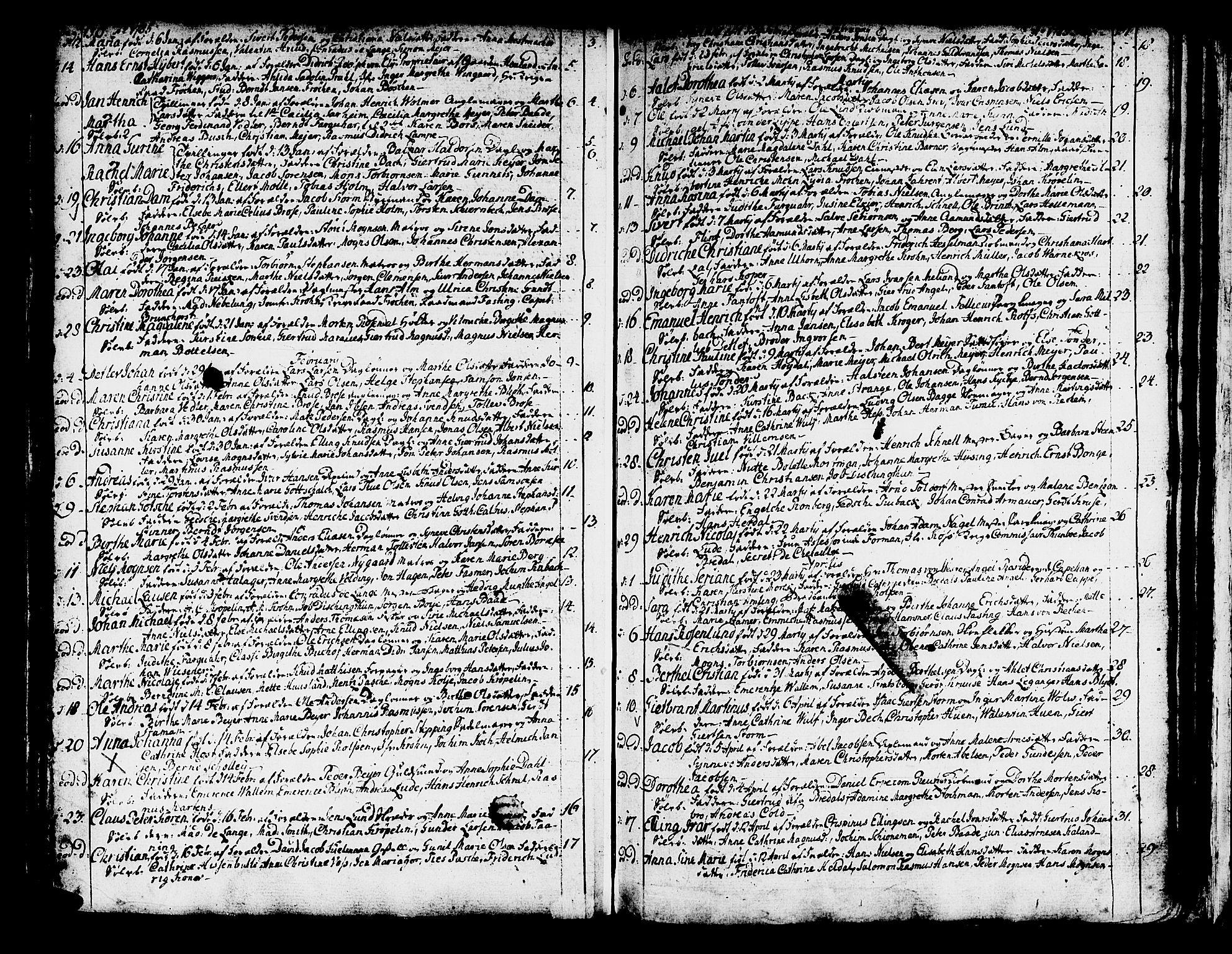SAB, Domkirken Sokneprestembete, H/Haa/L0003: Ministerialbok nr. A 3, 1758-1789, s. 250-251