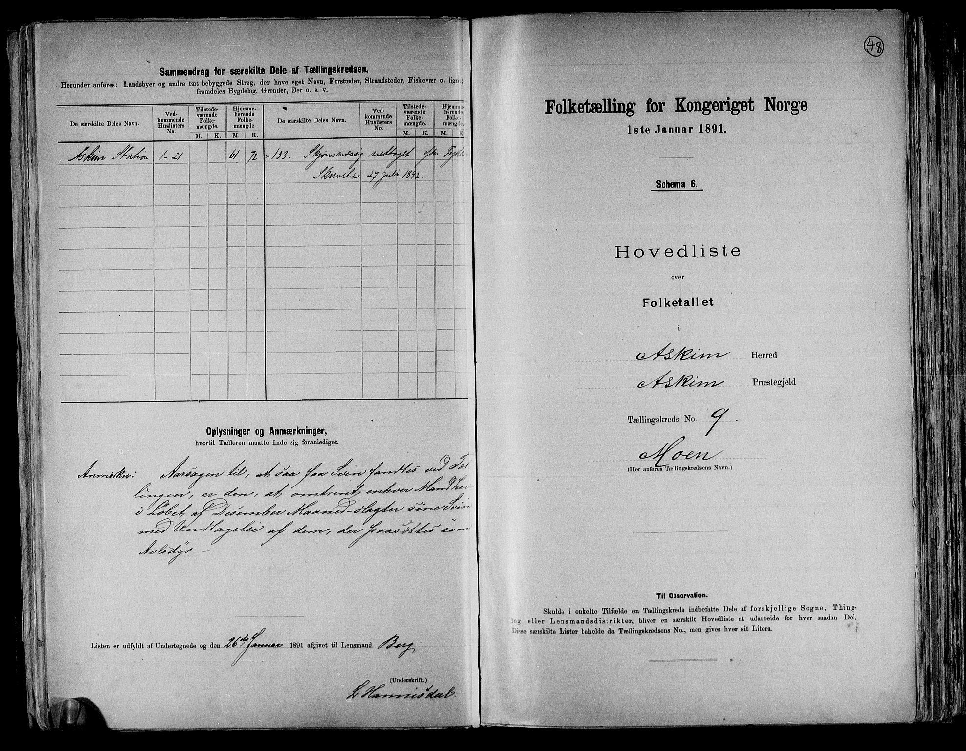 RA, Folketelling 1891 for 0124 Askim herred, 1891, s. 22
