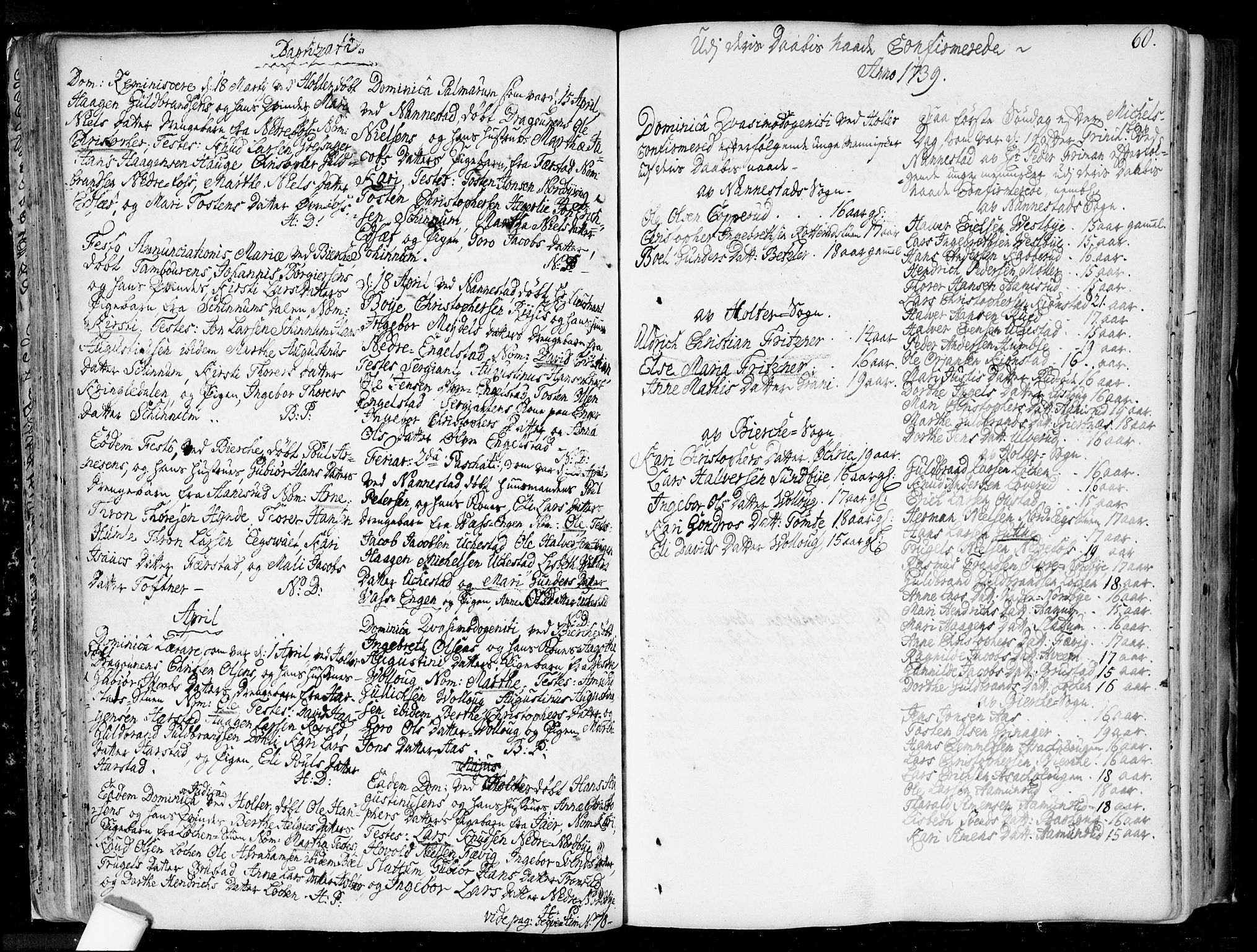 SAO, Nannestad prestekontor Kirkebøker, F/Fa/L0006: Ministerialbok nr. I 6, 1739-1754, s. 60