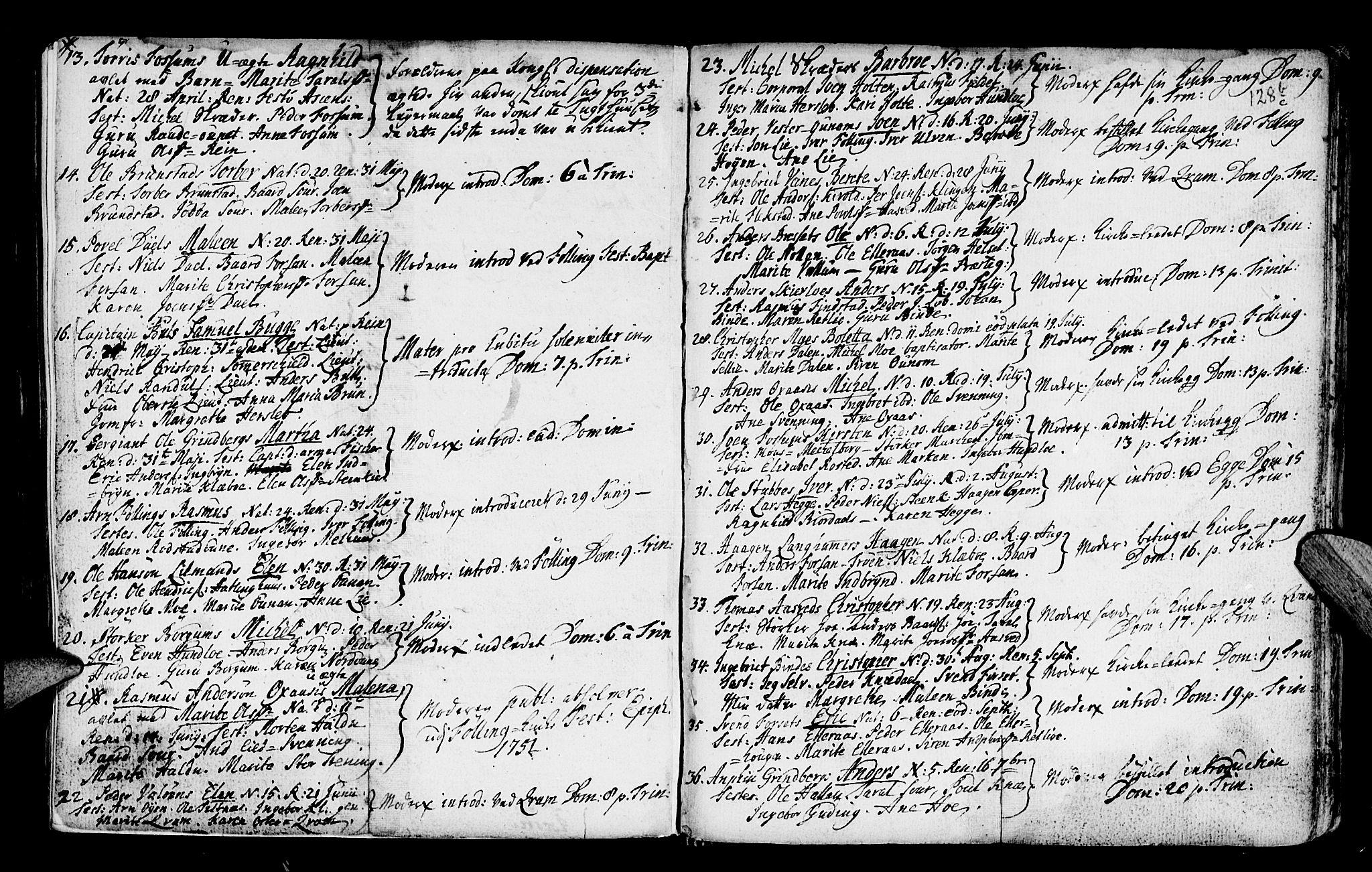 SAT, Ministerialprotokoller, klokkerbøker og fødselsregistre - Nord-Trøndelag, 746/L0439: Ministerialbok nr. 746A01, 1688-1759, s. 128b