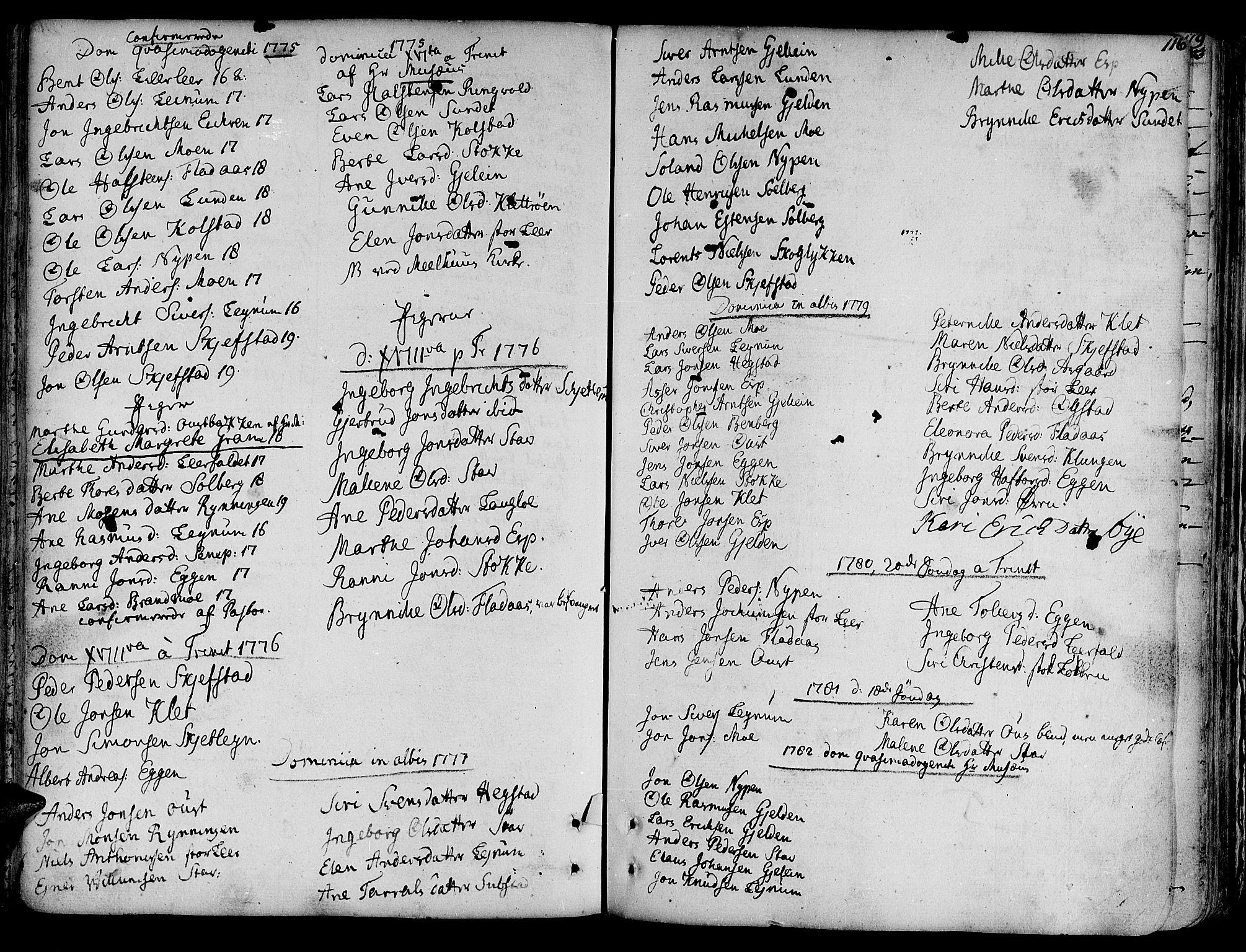 SAT, Ministerialprotokoller, klokkerbøker og fødselsregistre - Sør-Trøndelag, 691/L1063: Ministerialbok nr. 691A02 /3, 1768-1815, s. 116