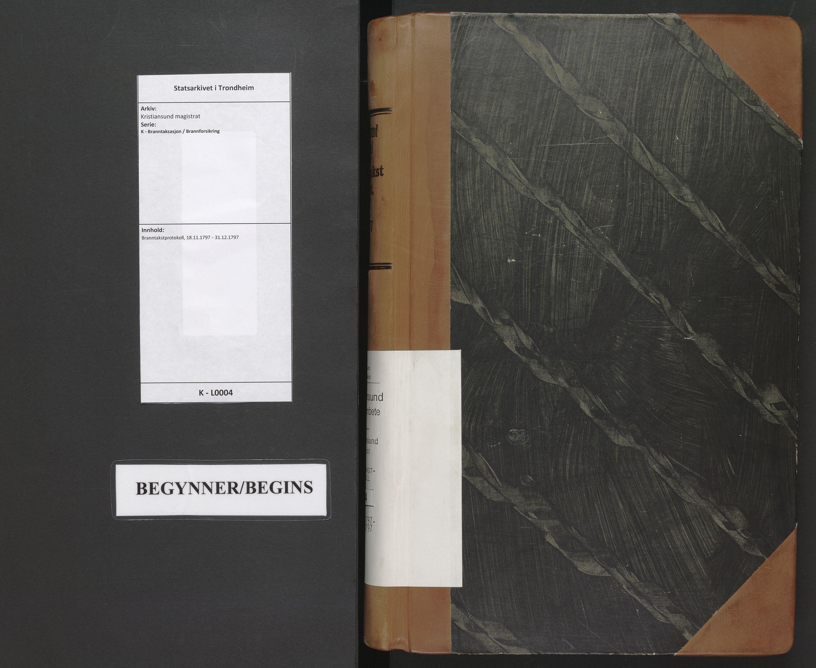 SAT, Kristiansund magistrat, K/L0004: Branntakstprotokoll, 1797